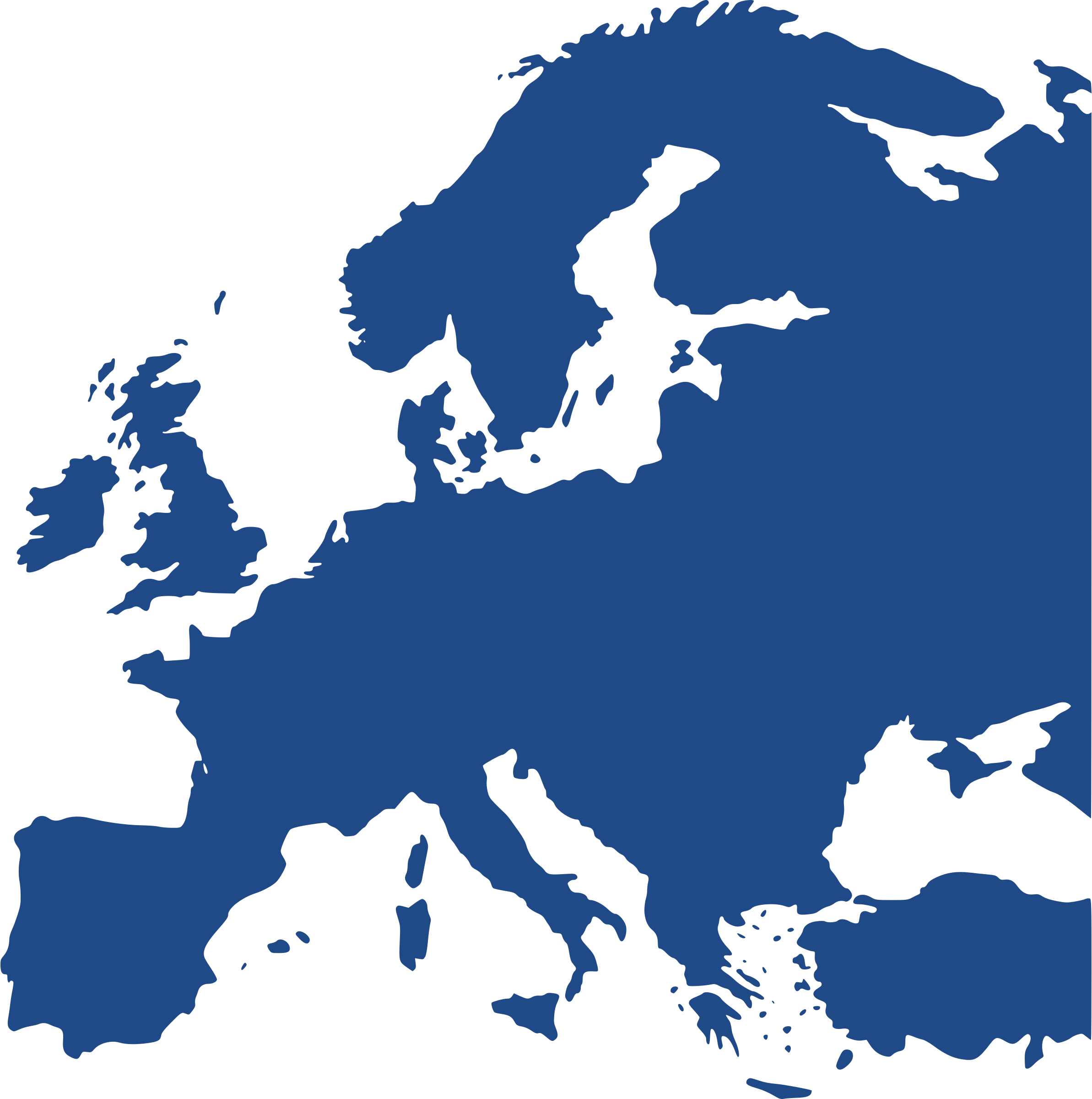Map of Europe (equidistant) by berteh