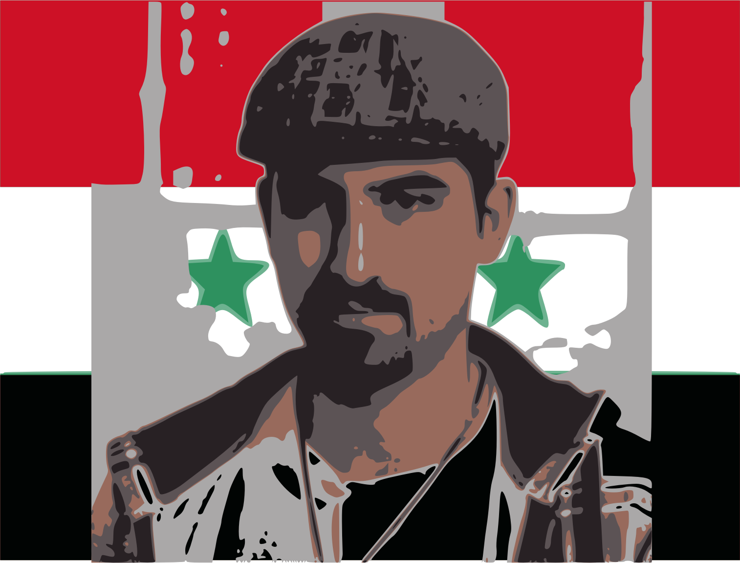 Freebassel with syria flag  by jykhui