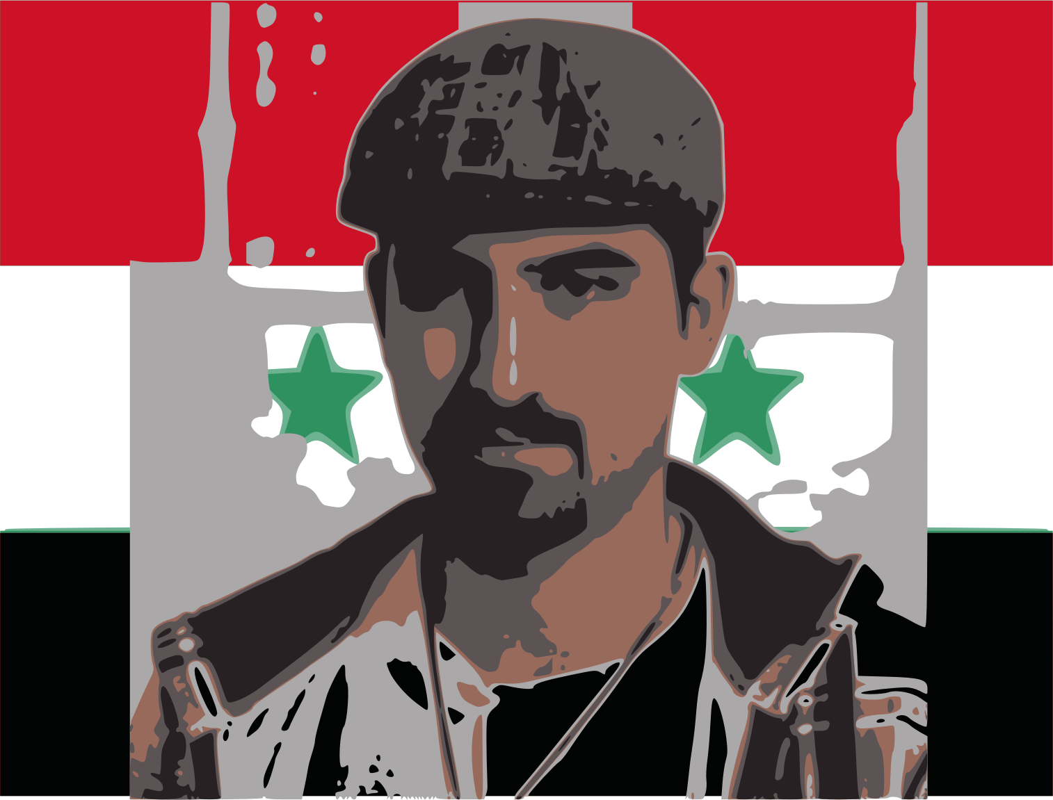 Bassel with syria flag  by jykhui
