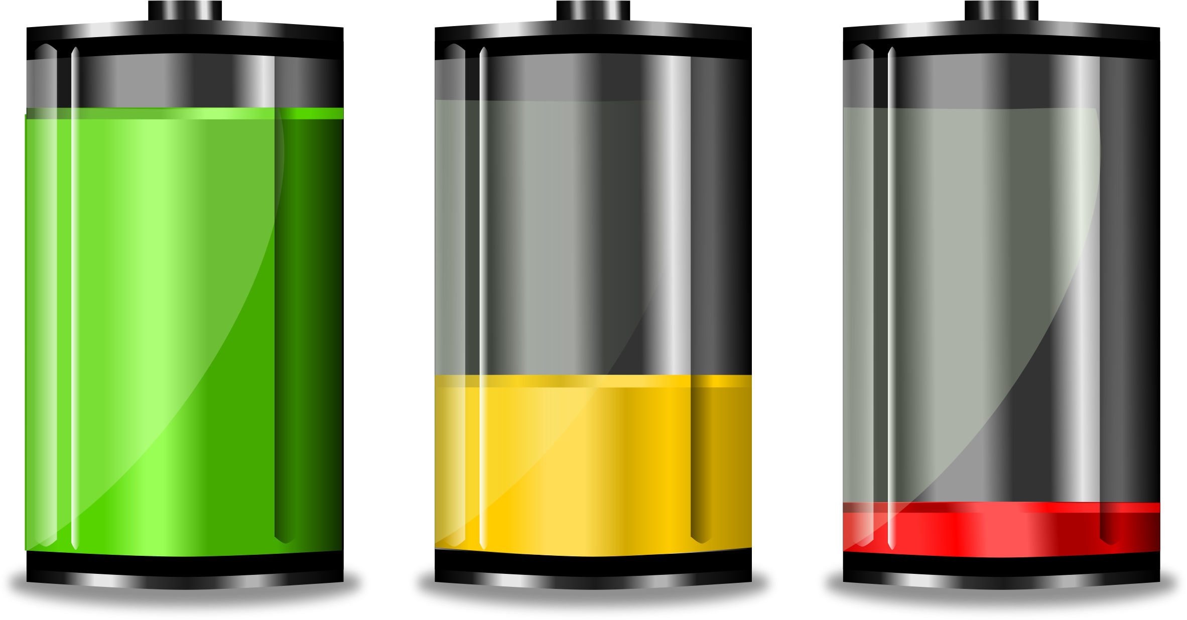 Clipart Battery Levels Niveles De Bater 195 173 A