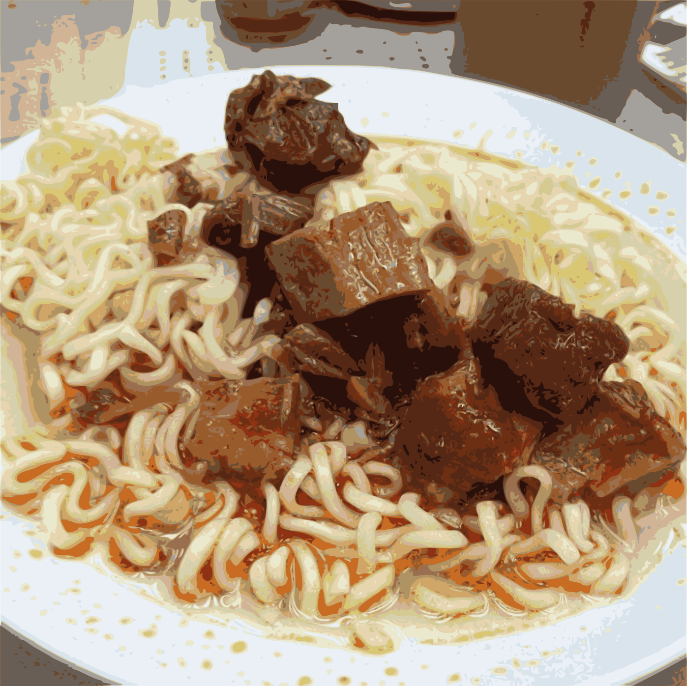 spiced pork cube Instant noodle by jykhui