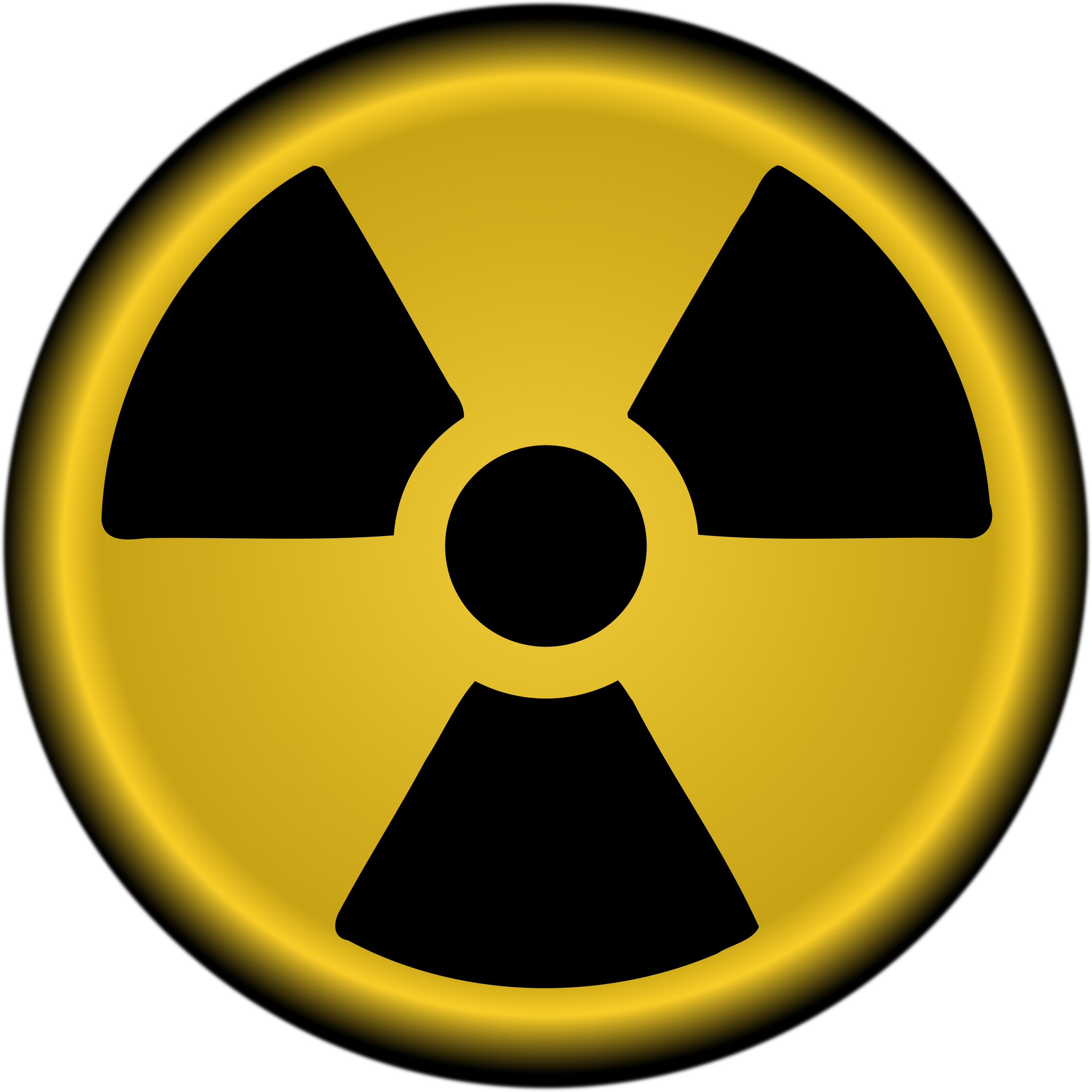 Radiation symbol nuclear by Keistutis