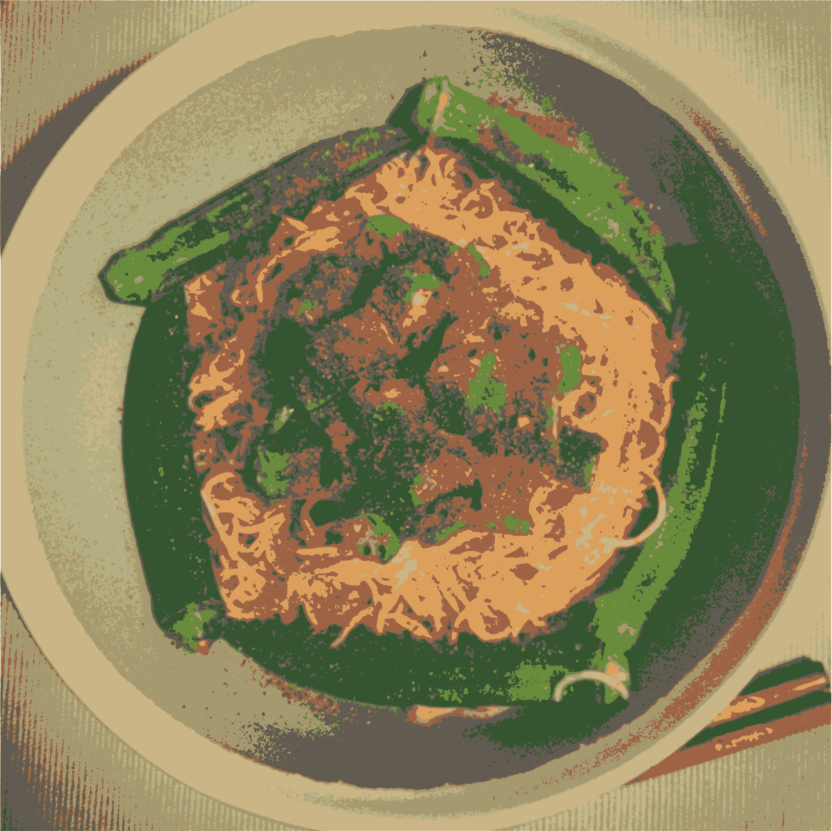 okra shrimp noodle  by jykhui