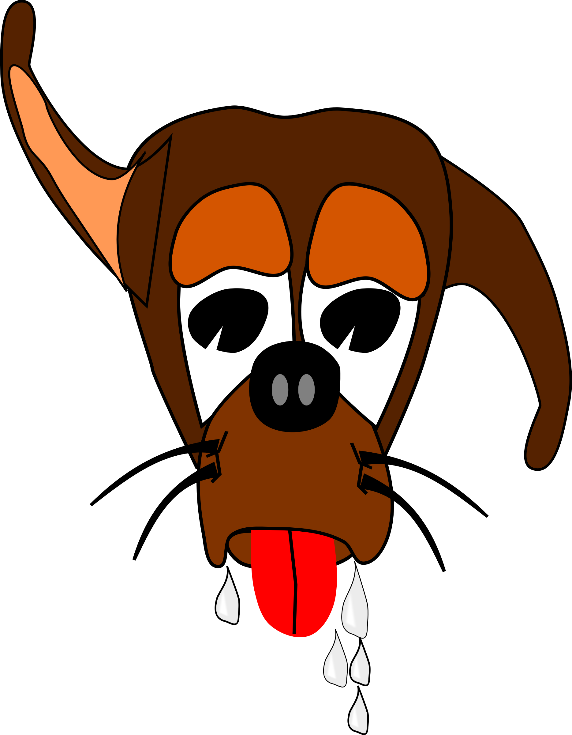Clipart Salivating Dog