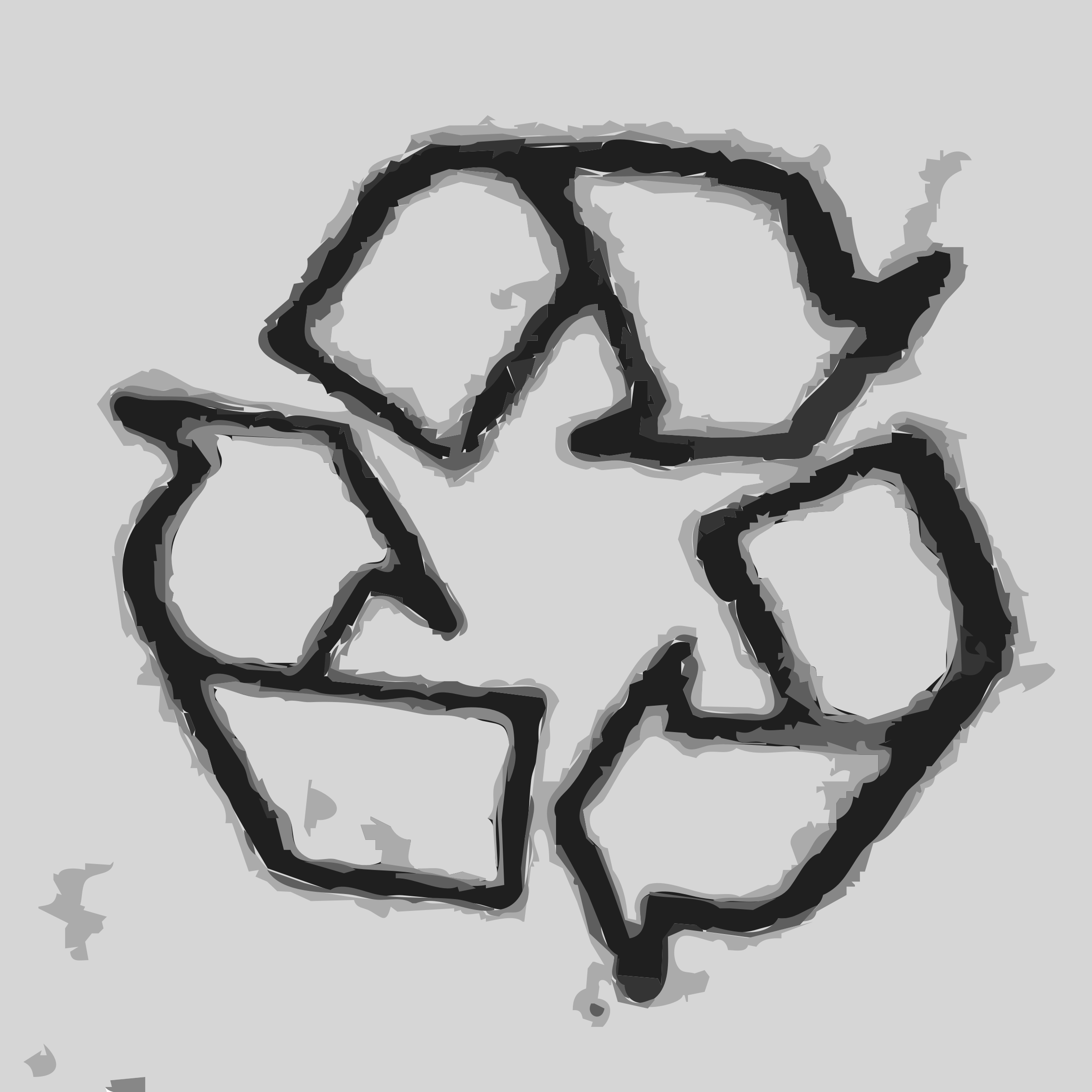 The recycle icon by rejon
