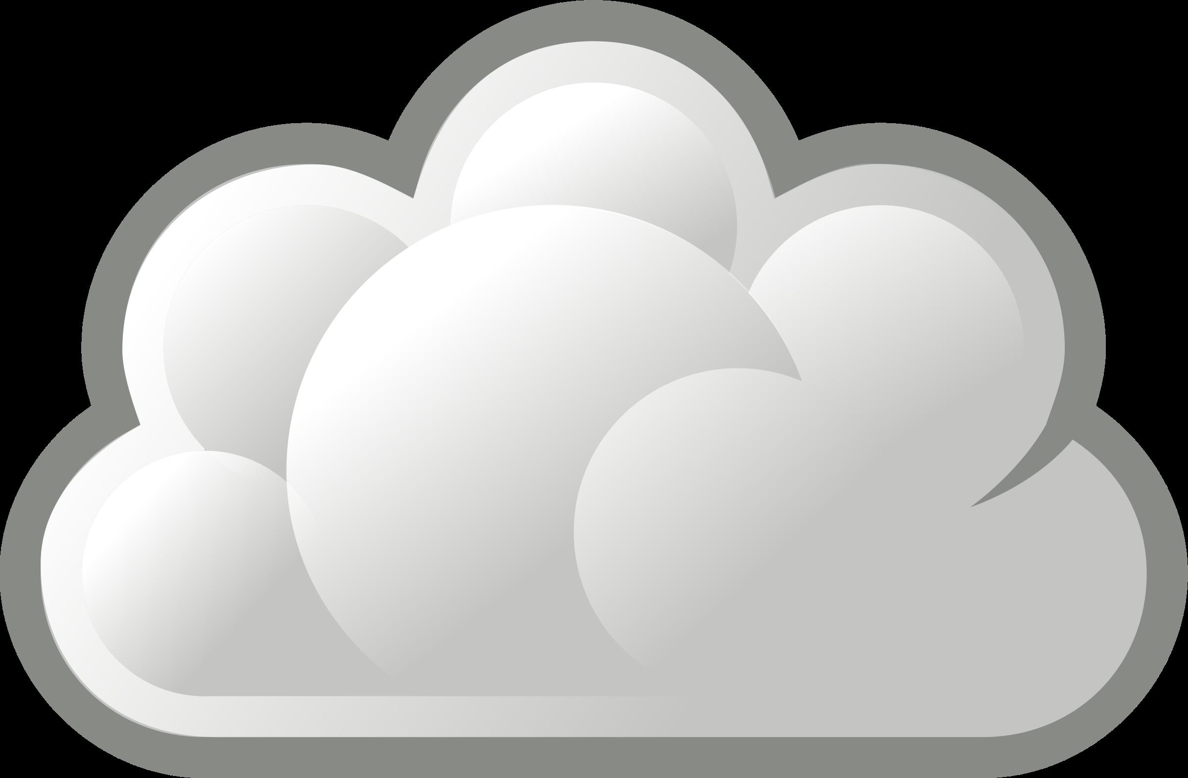 Cloud Clip Art Clipart - stylized basic cloud