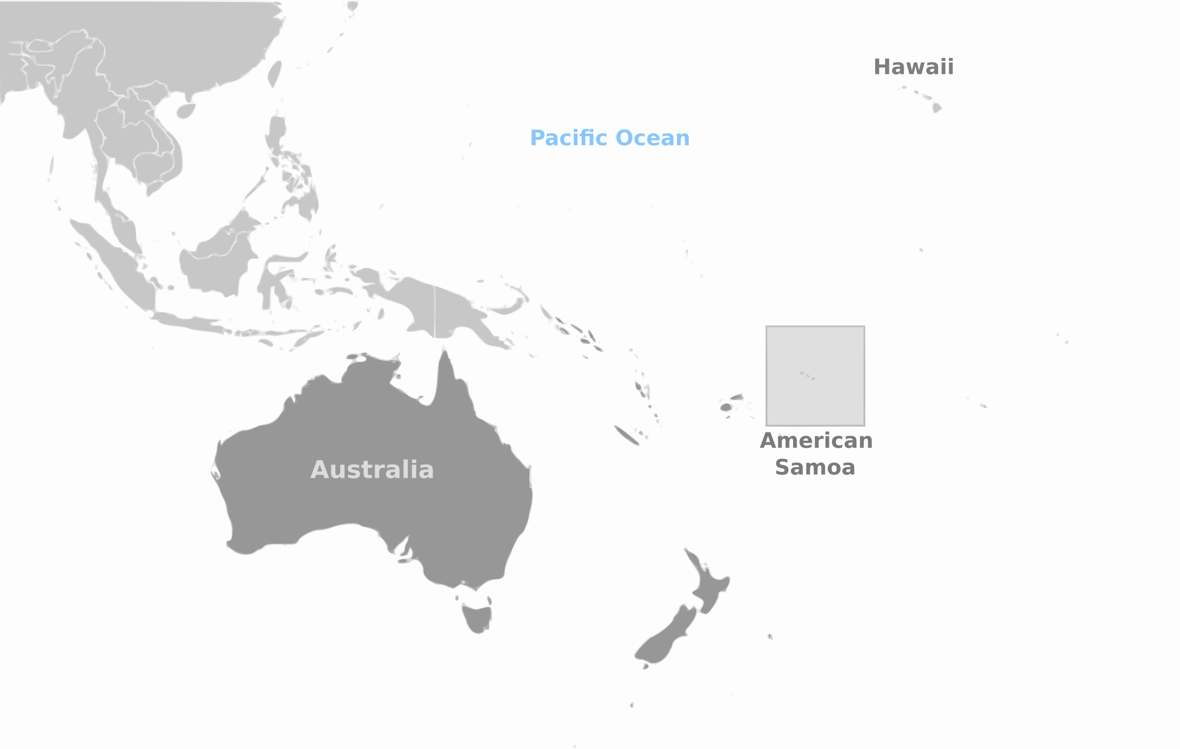 American Samoa location labeled by wpclipart