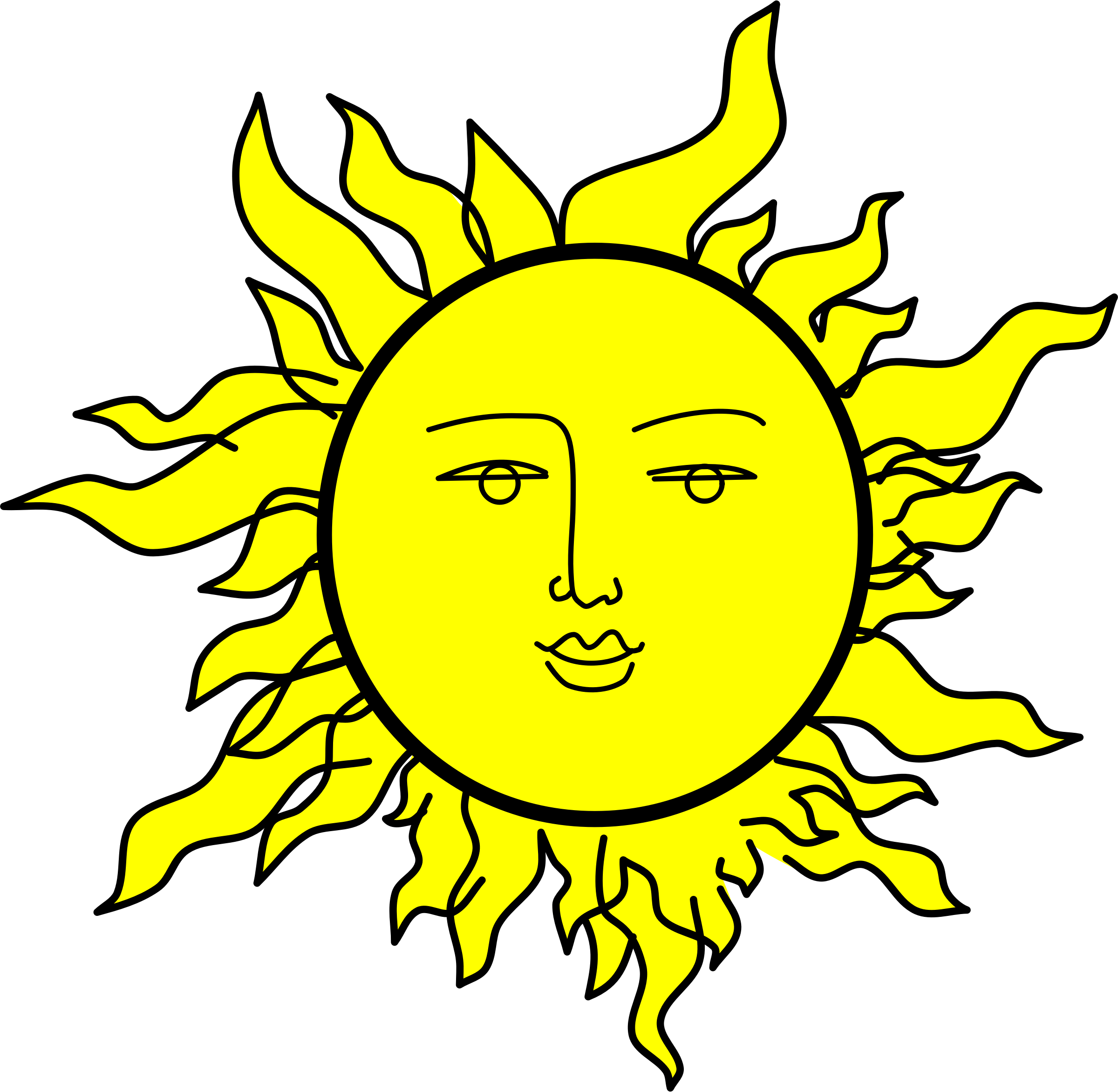 Sun with a face by Rones by rones