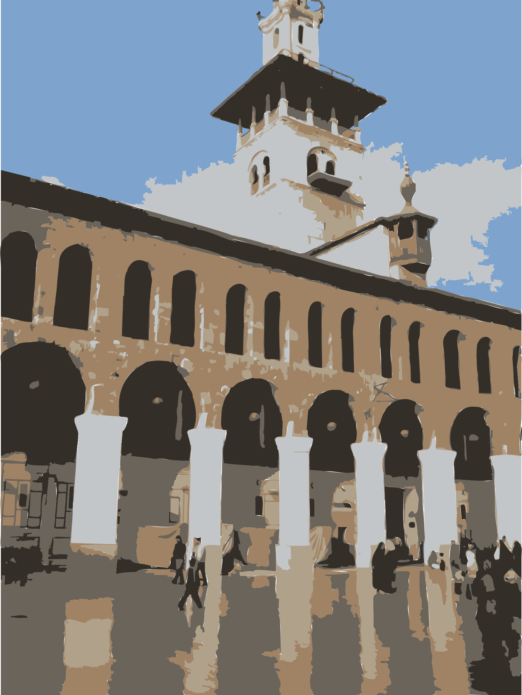 Umayyad Mosque in Damascus Vertical by rejon