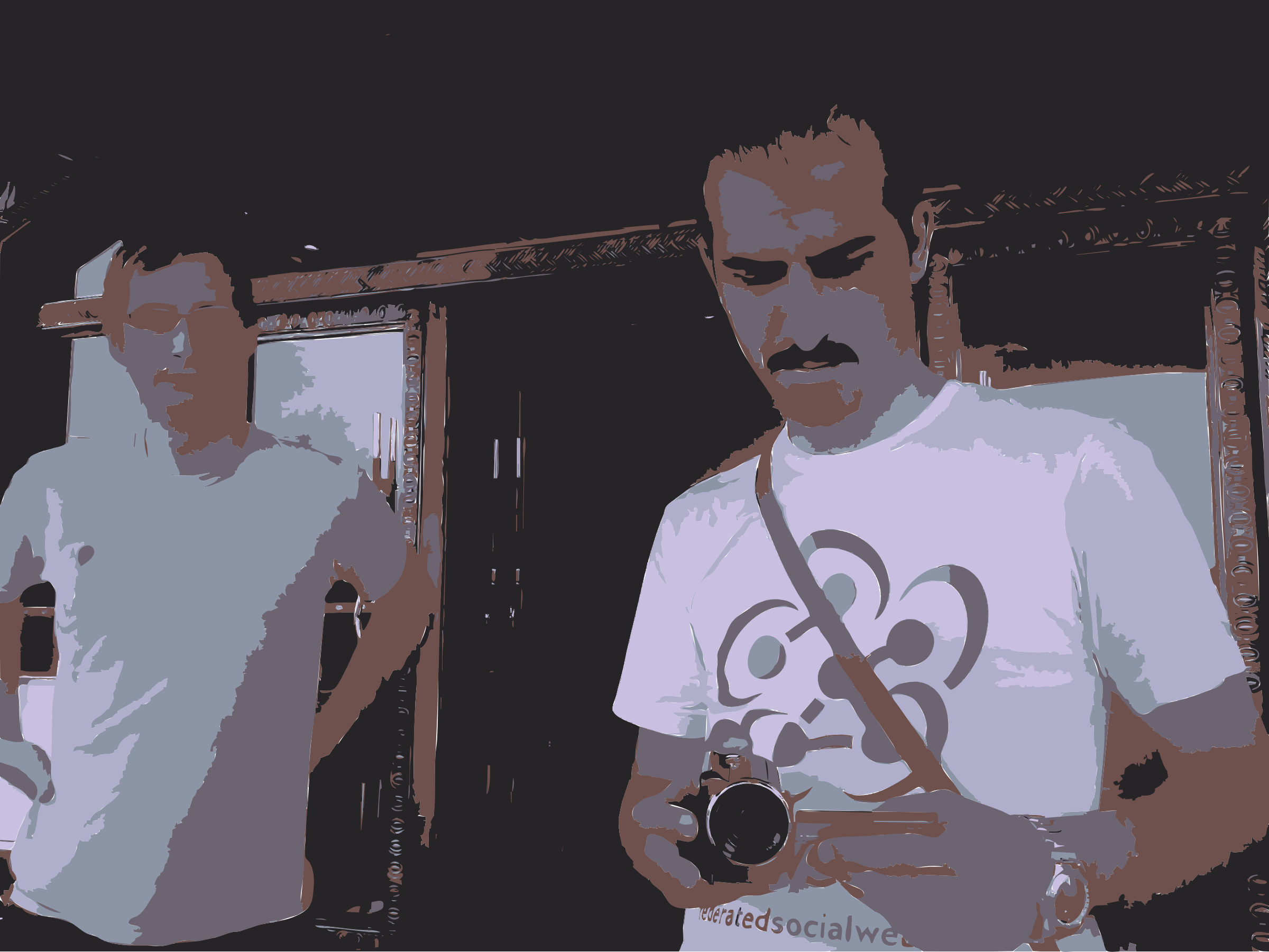 Clipart - Barry and Bassel with Camera