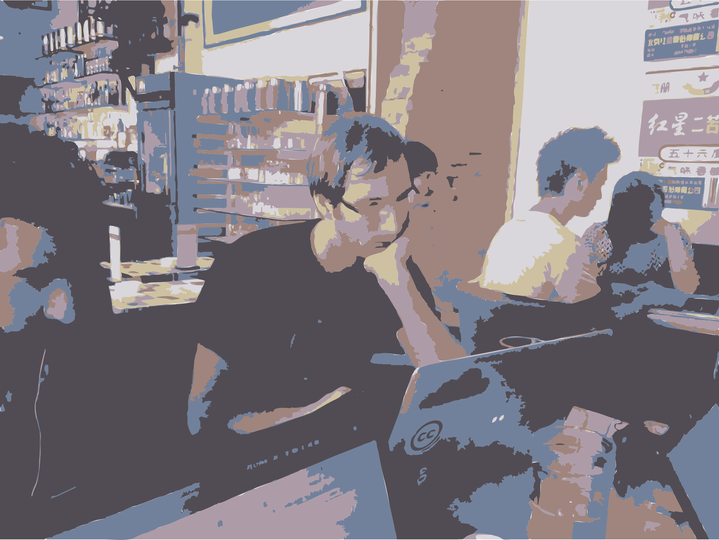 Barry Working at Bookworm by rejon