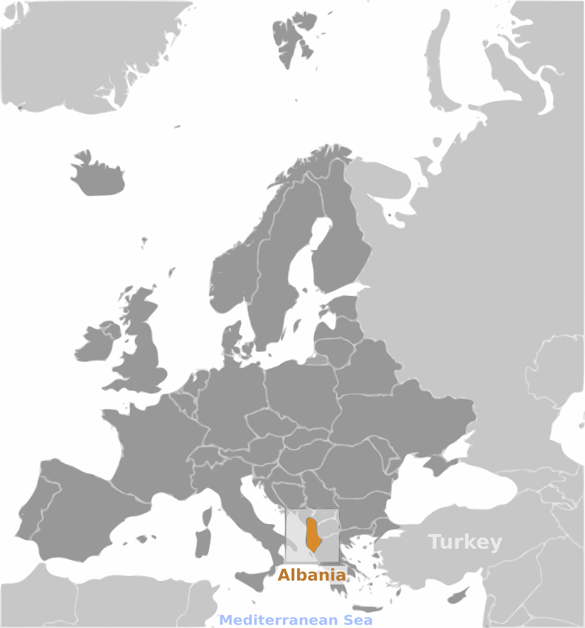 Albania location label by wpclipart