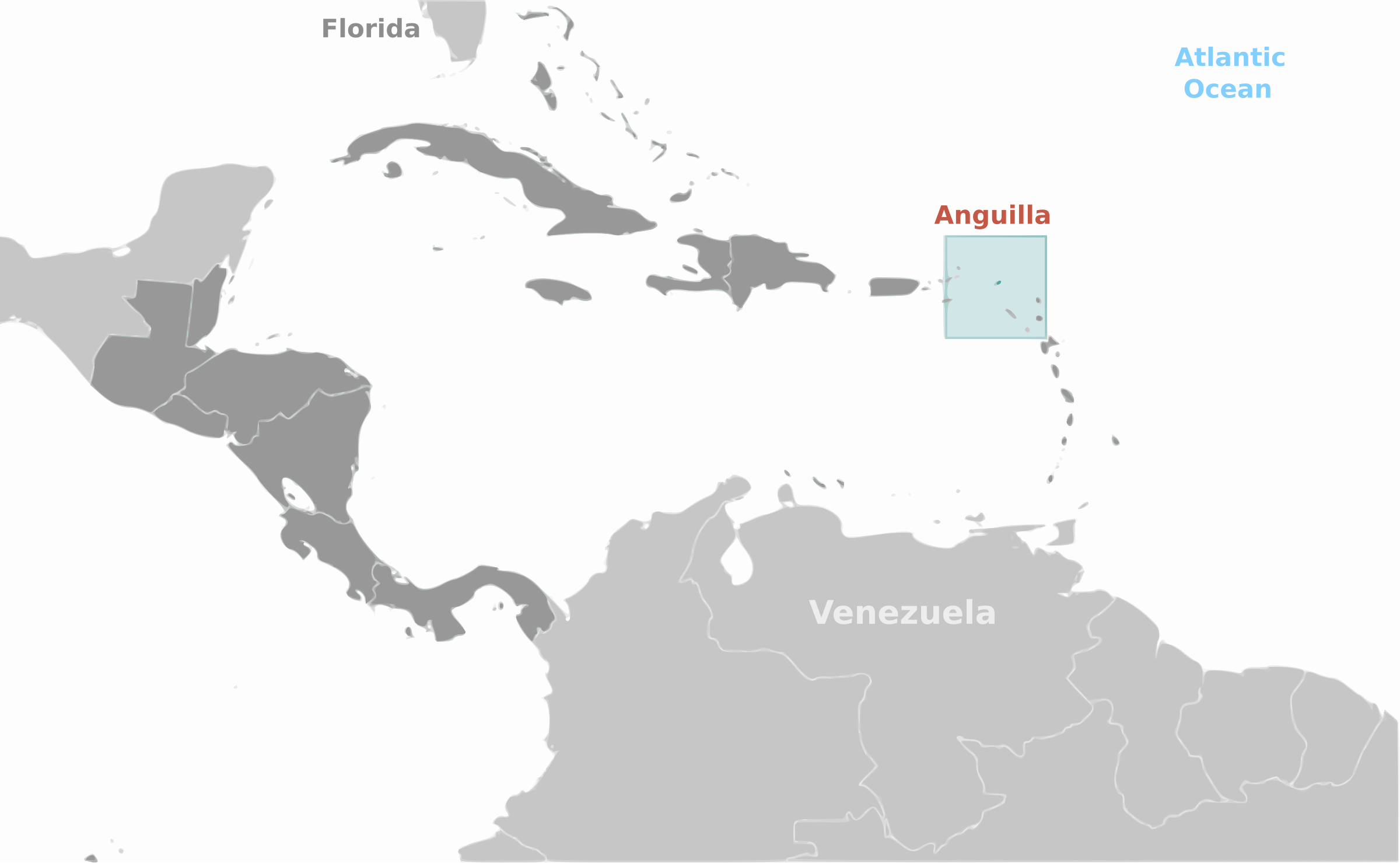 Anguilla location label by wpclipart
