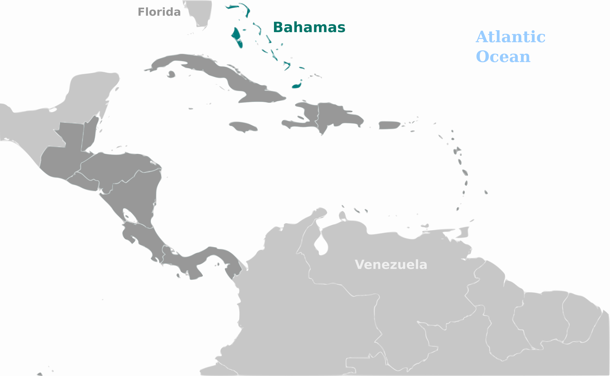 Bahamas location label by wpclipart