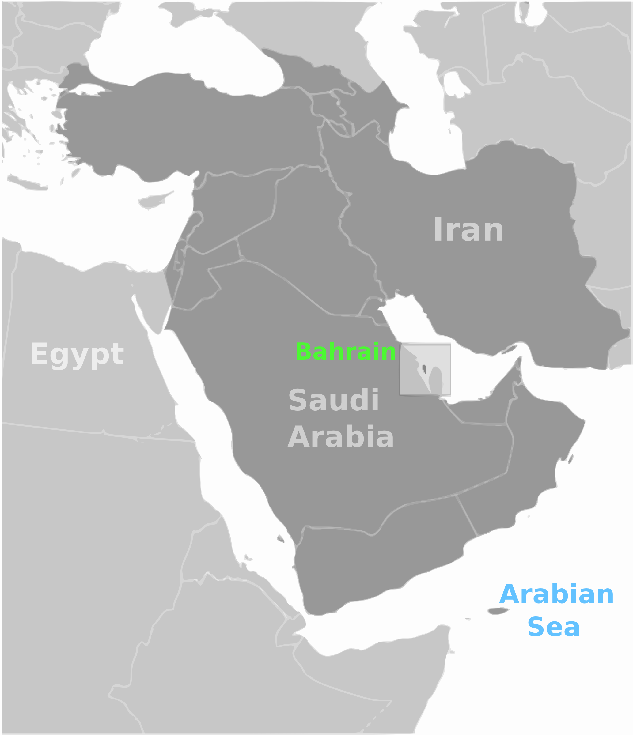 Bahrain location label by wpclipart