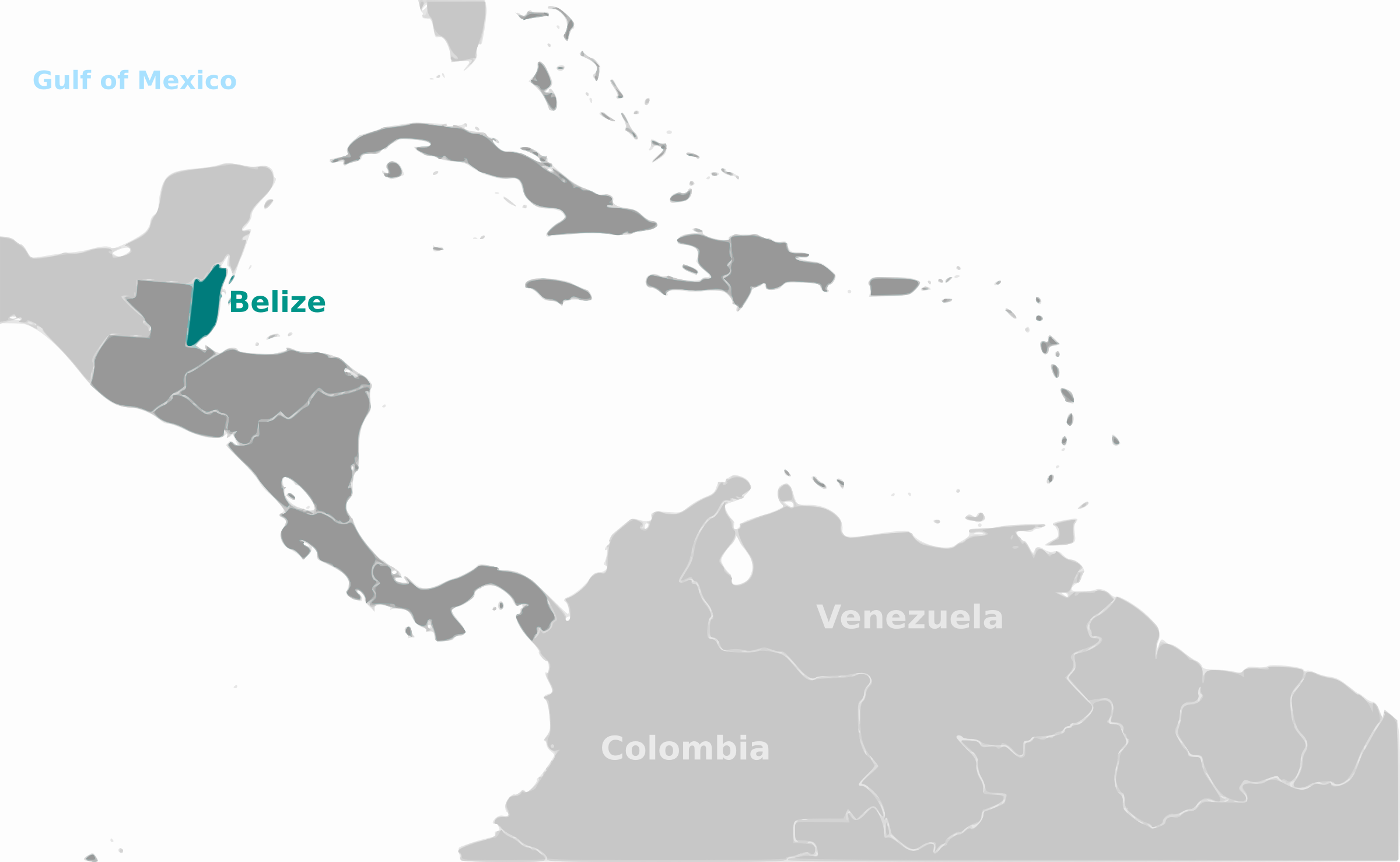 Belize location label by wpclipart