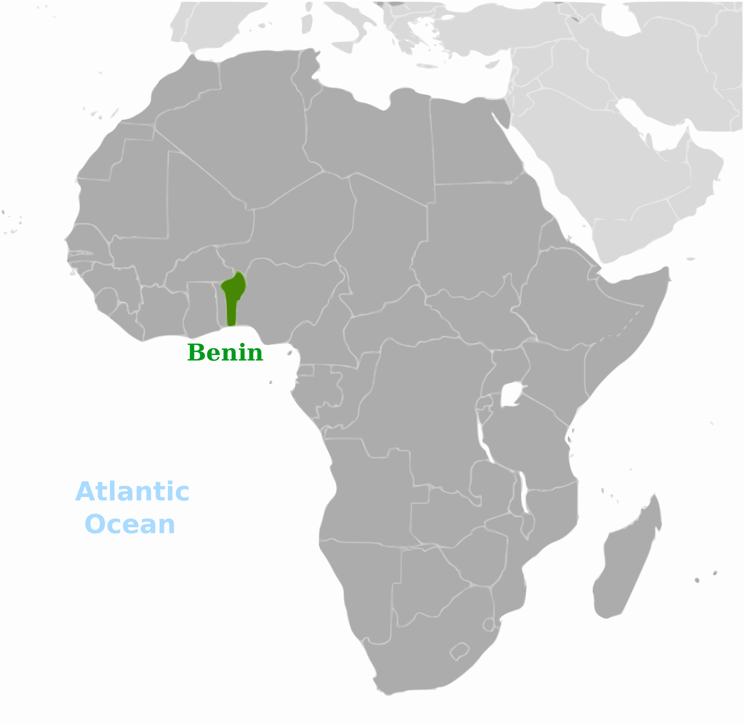 Benin location label by wpclipart