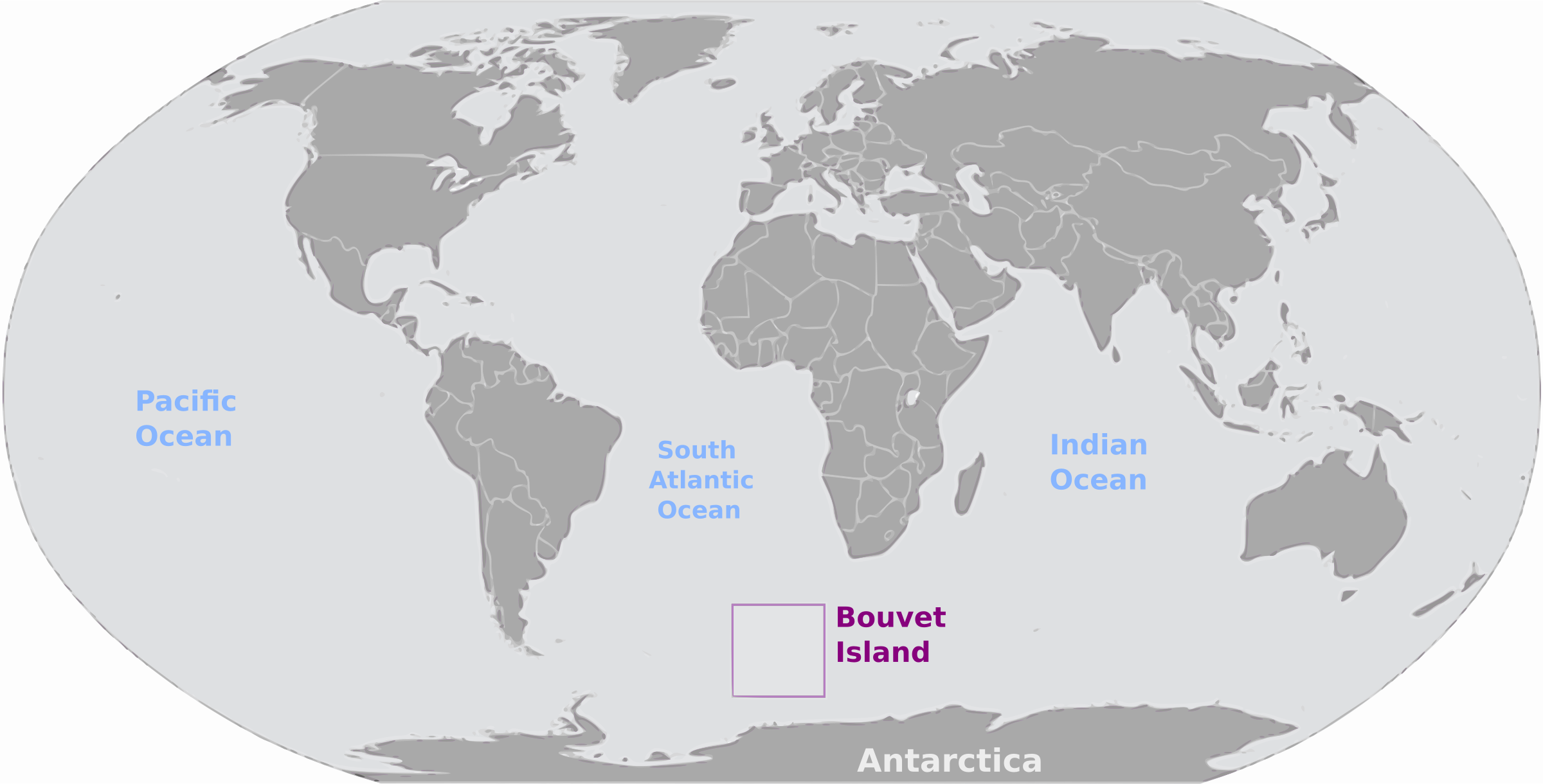 Bouvet Island location label by wpclipart