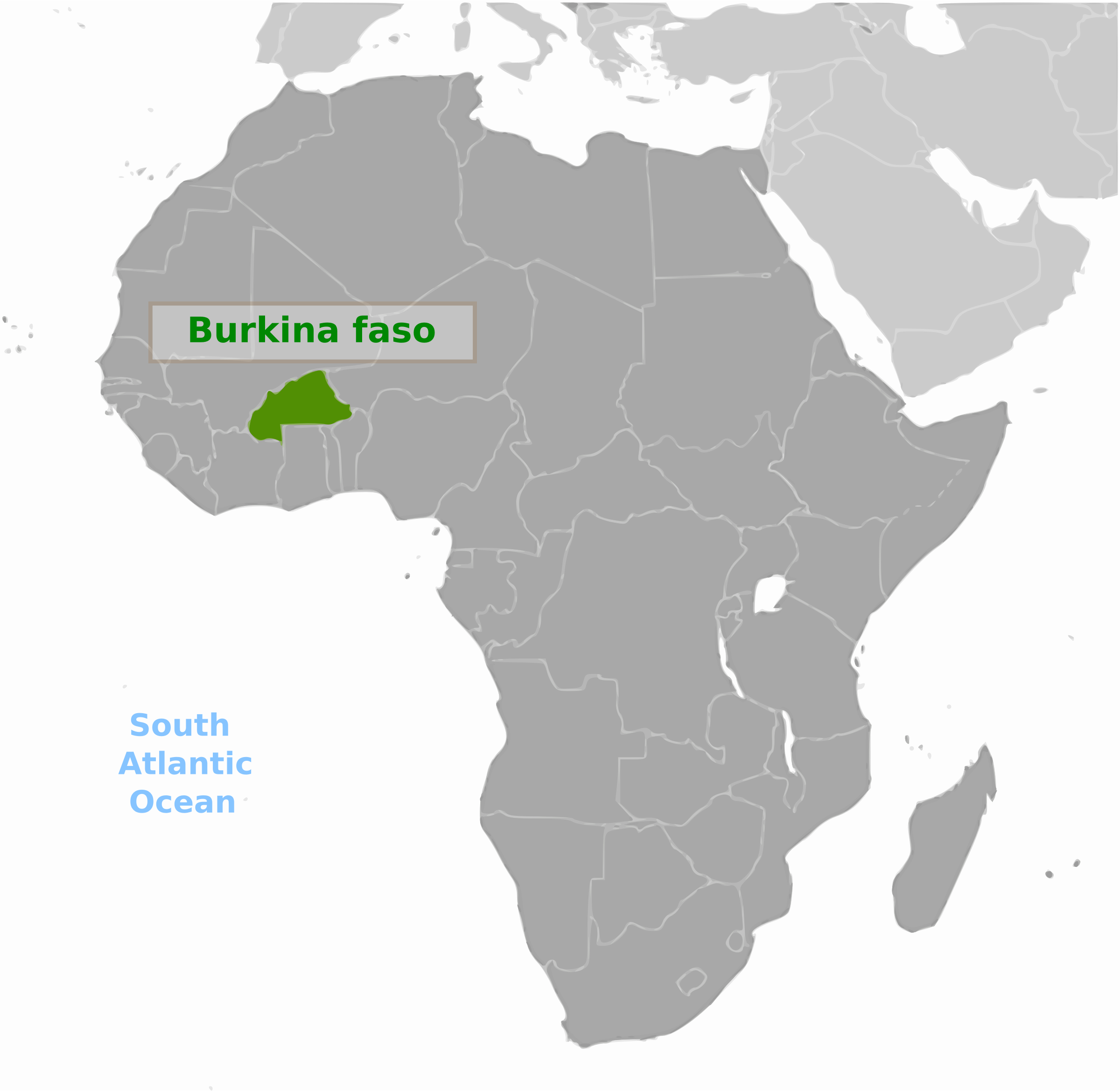 Burkina Faso location label by wpclipart