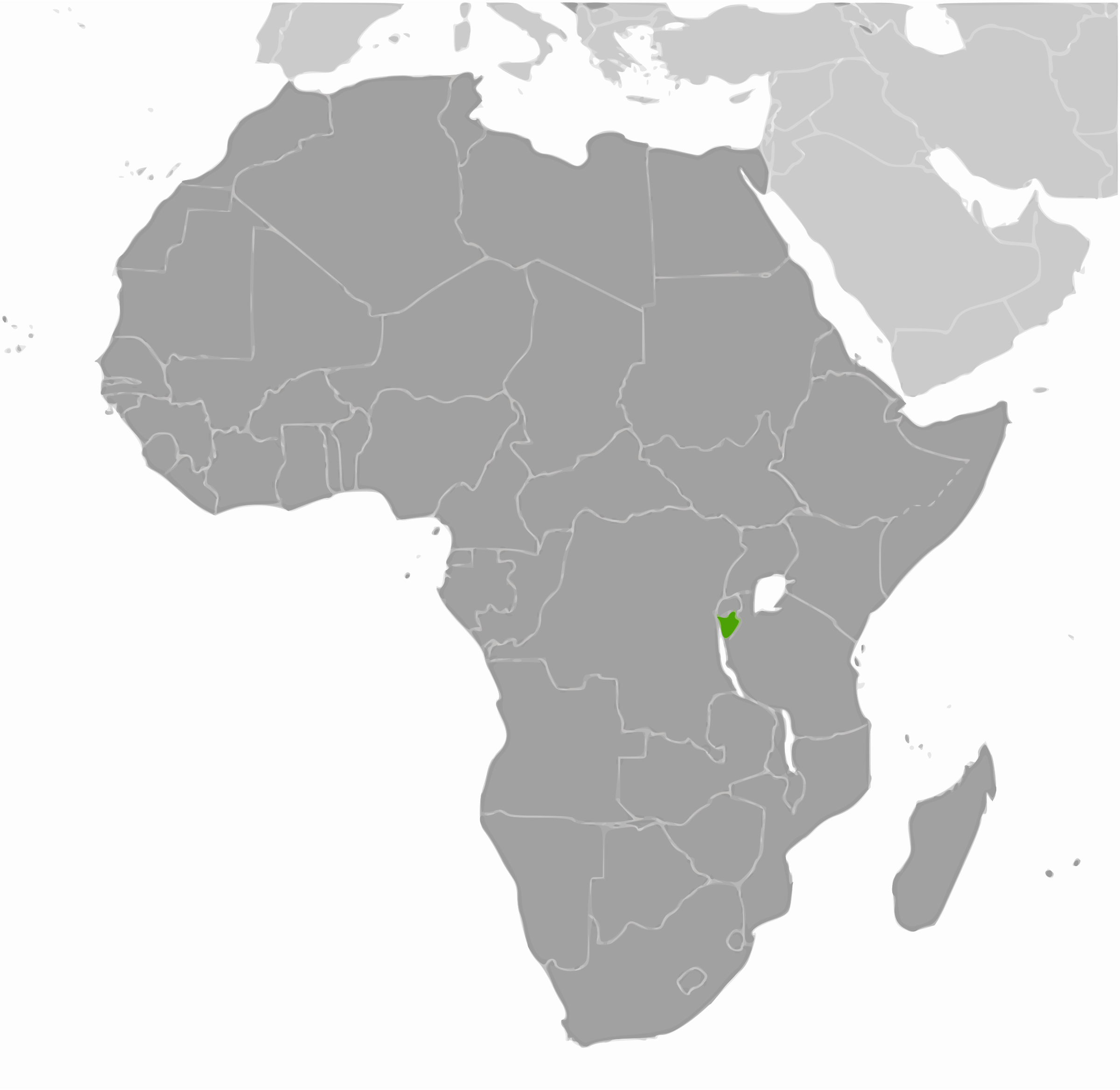 Burundi location by wpclipart