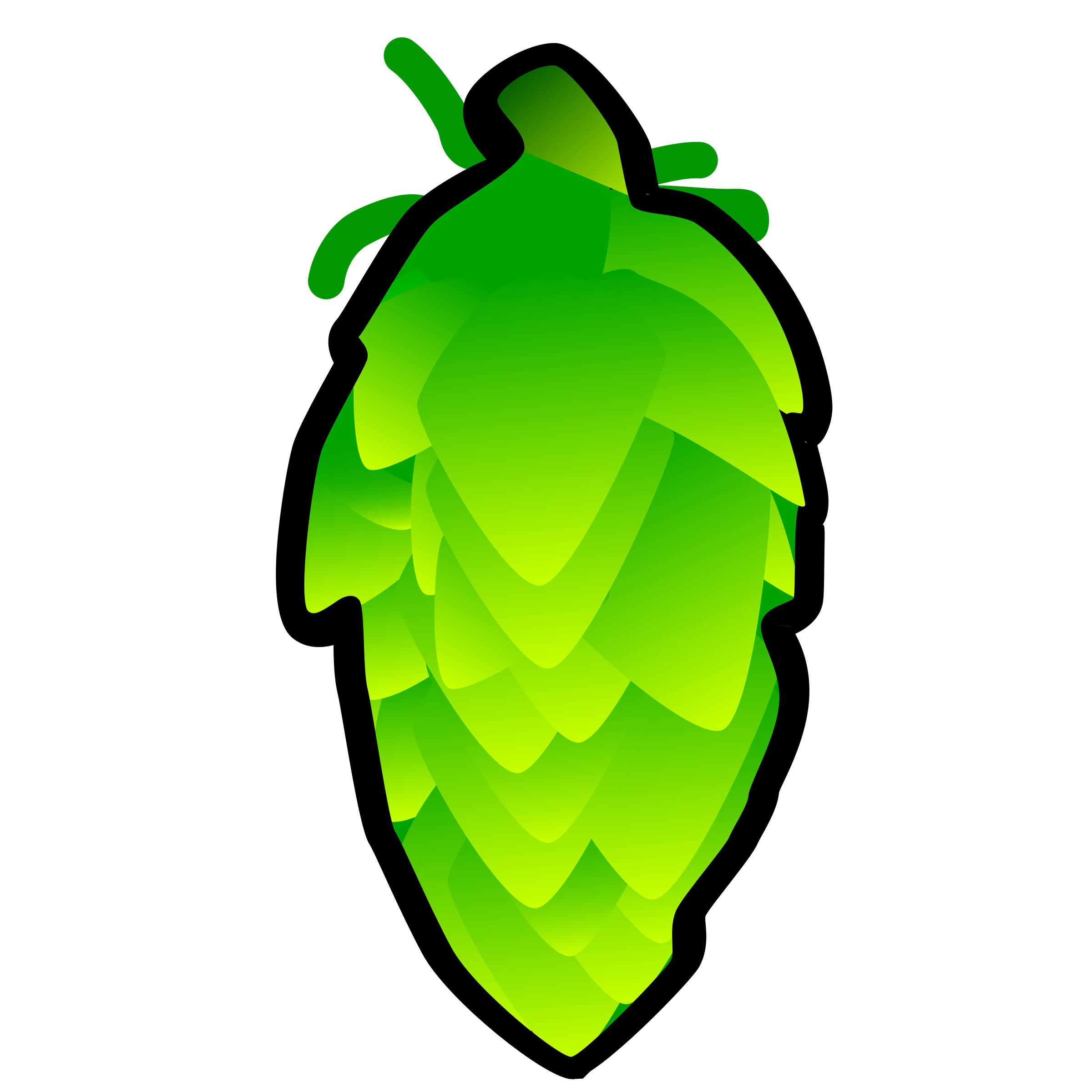 Hop Cone Illustration by qubit