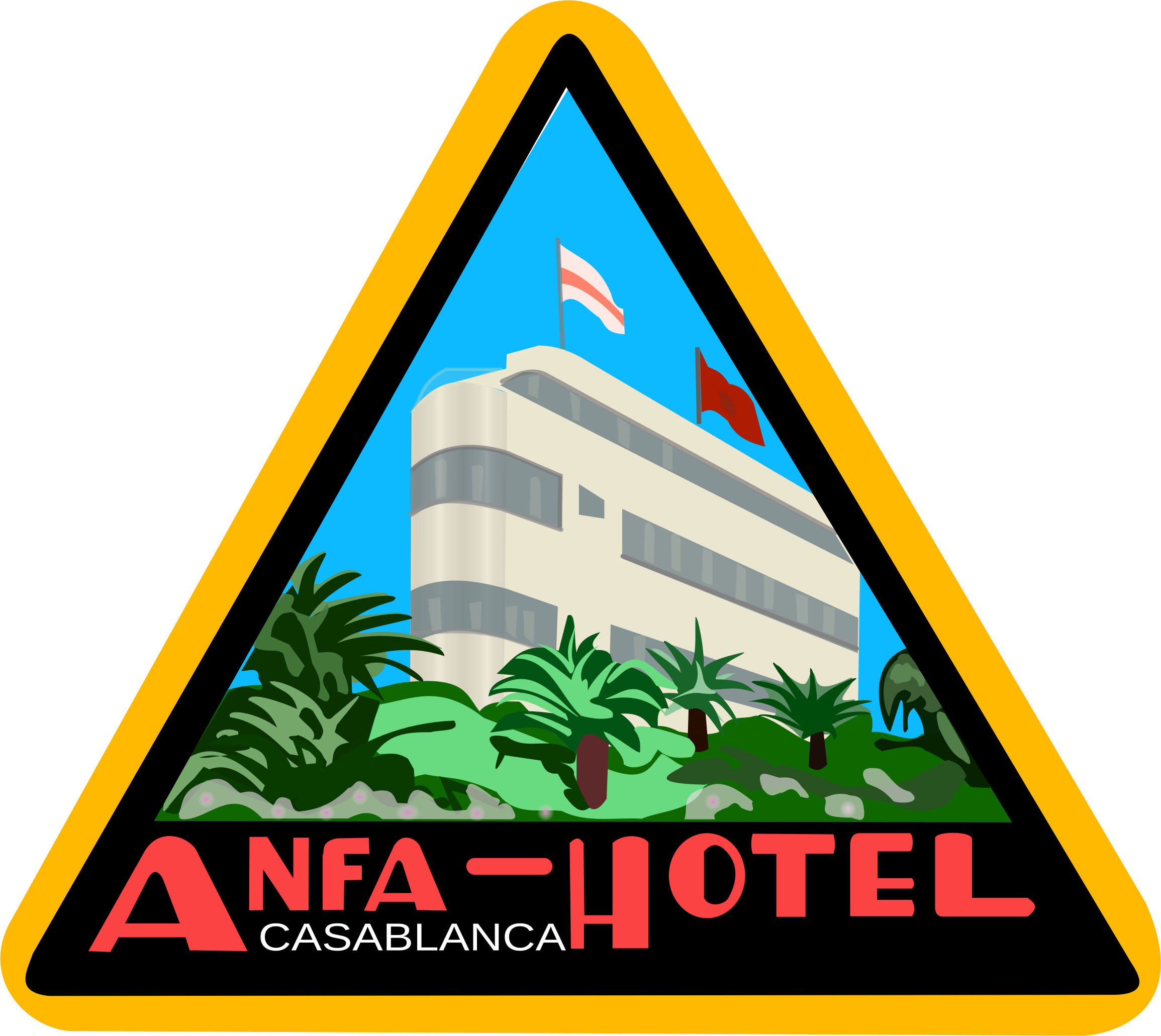 Sticker Anfa Hotel by frankes
