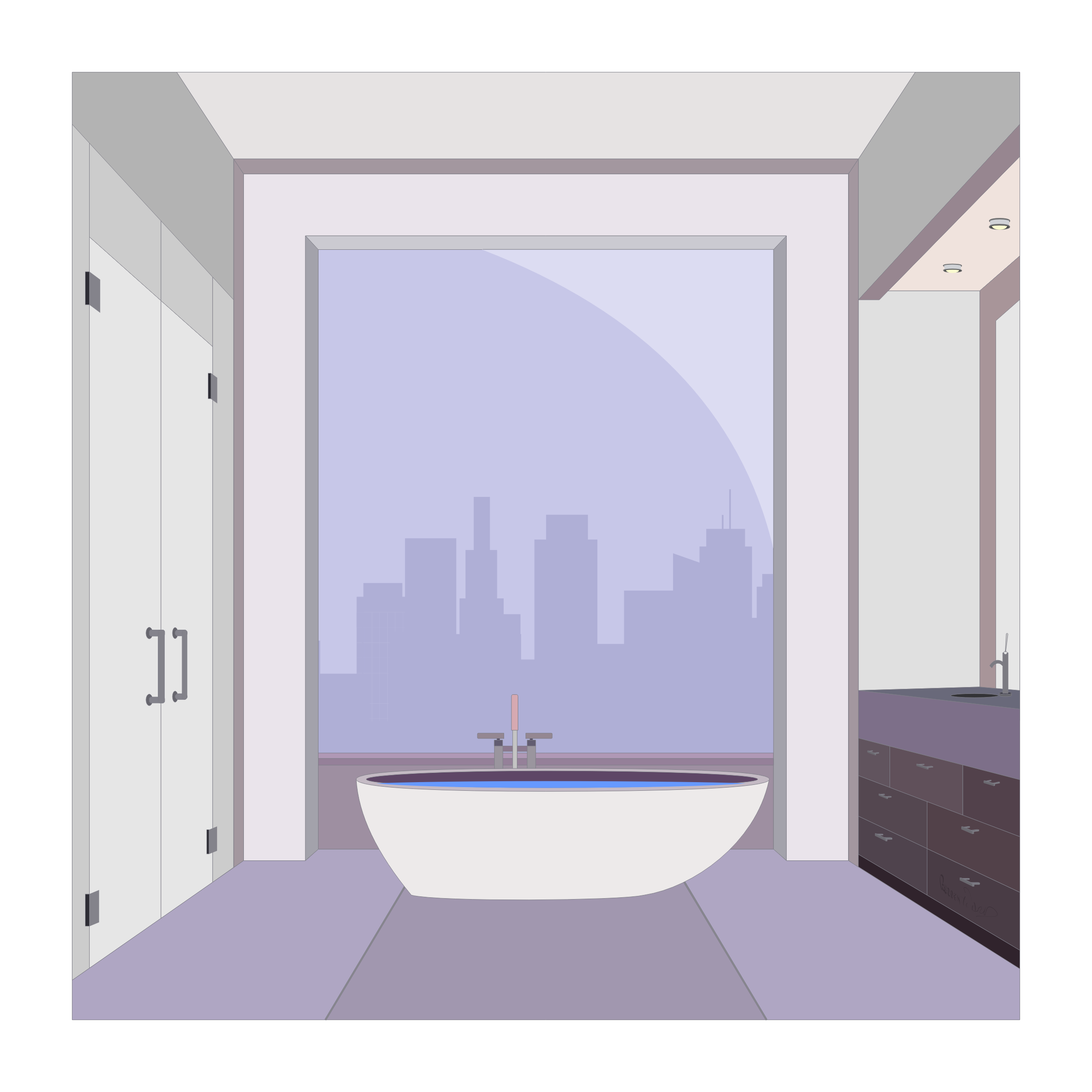 Apartment Bathroom by barrettward