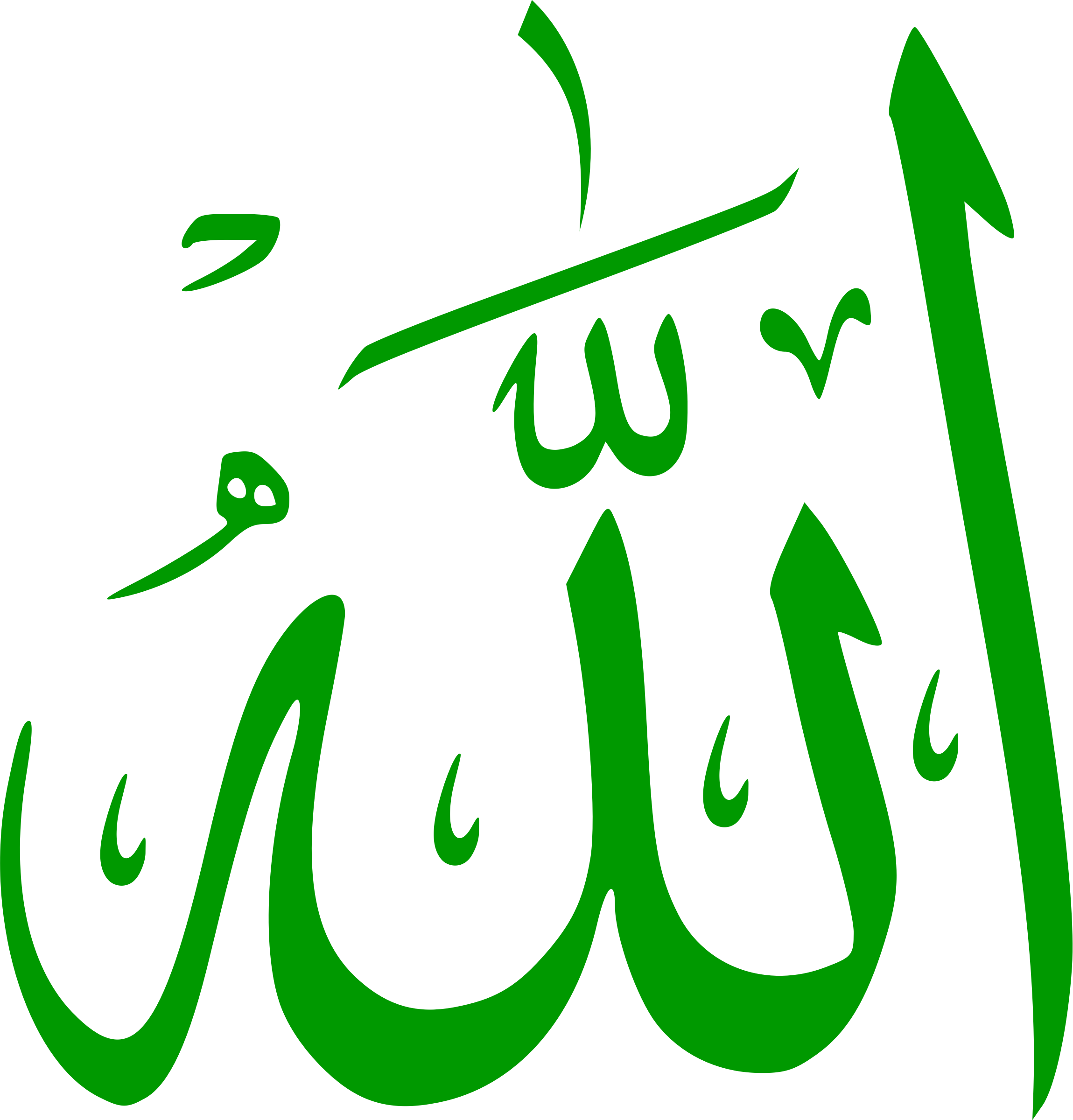 Allah (Calligraphy) by Mahmoud