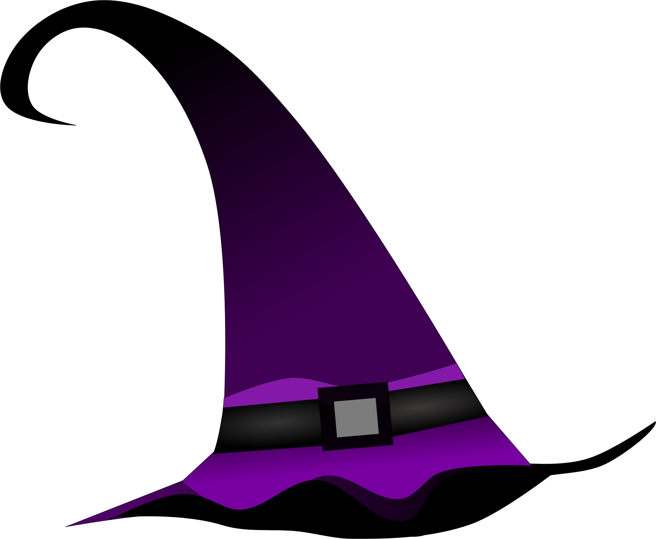 Purple witch hat by Pippi2011