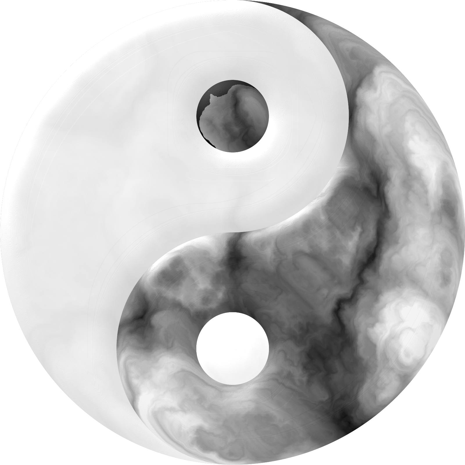 Marbled Yin Yang by gustavorezende