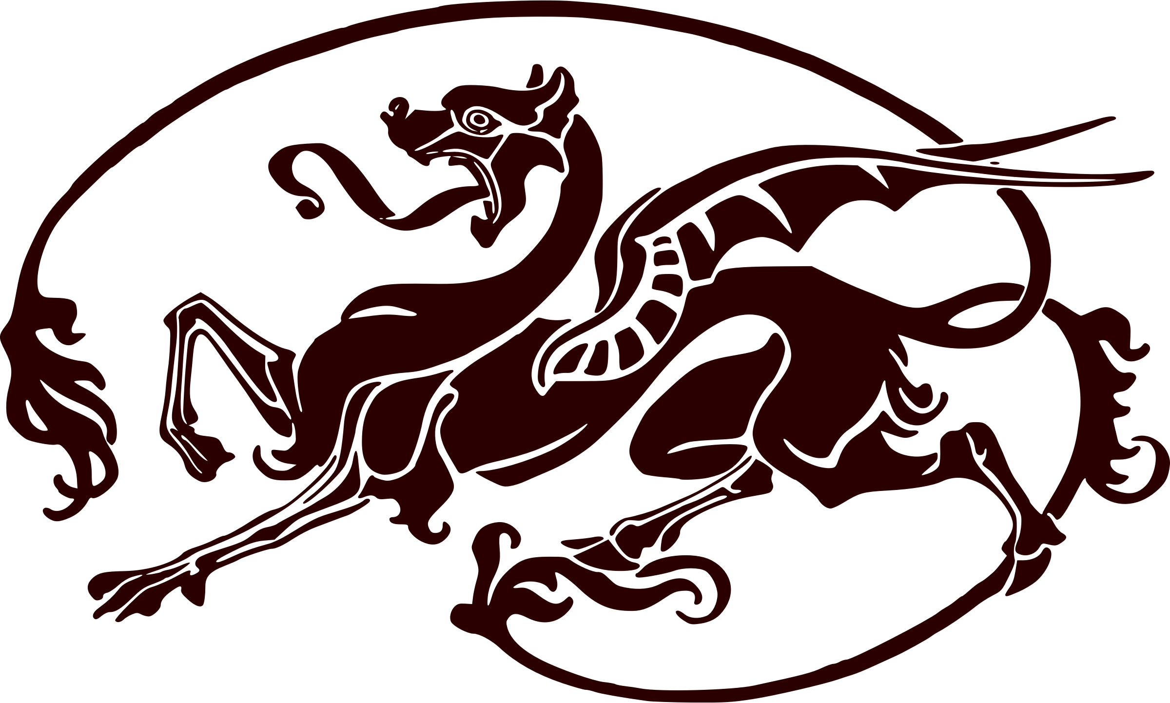 Art nouveau dragon by liftarn