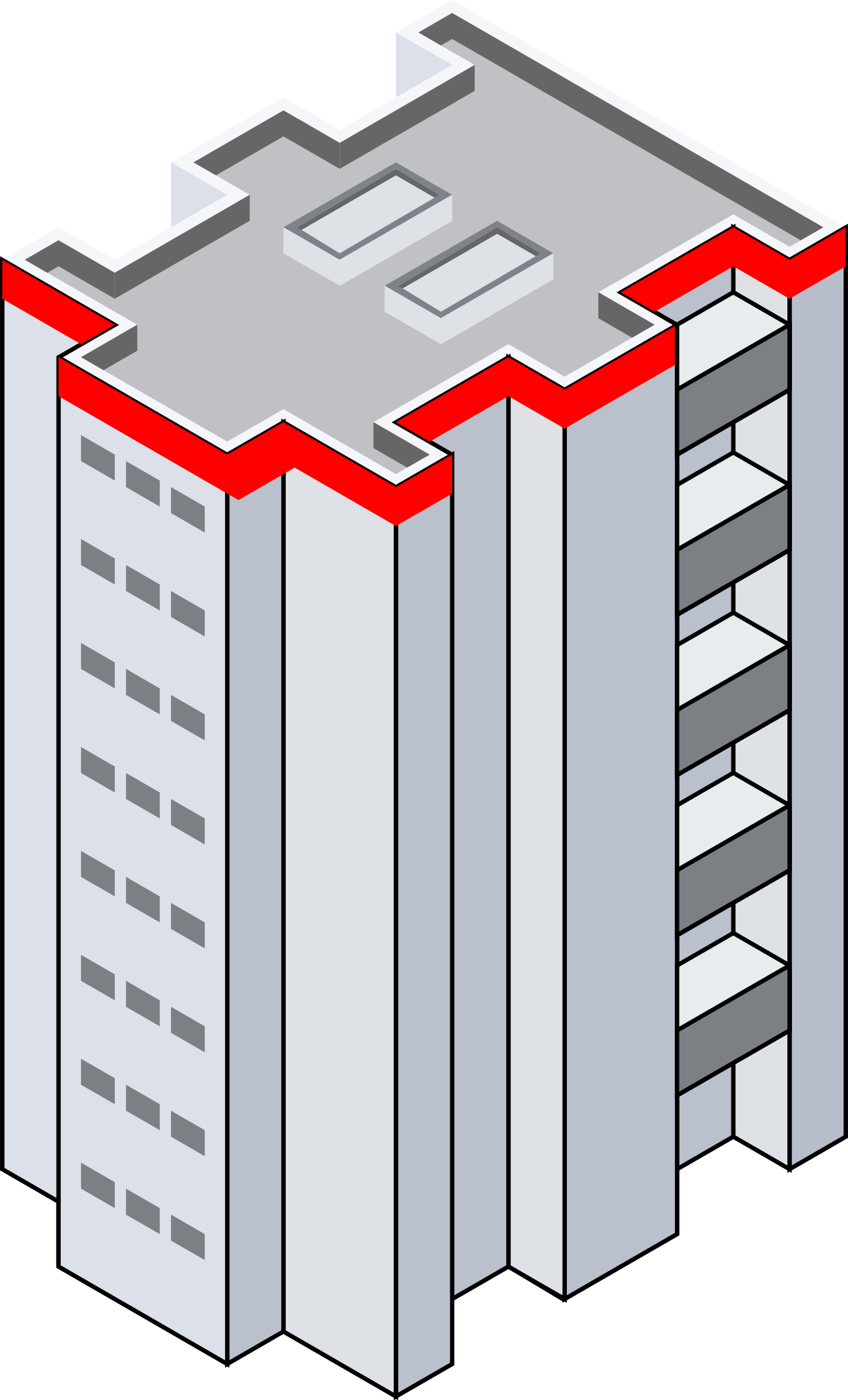 Isometric Building by eternaltyro
