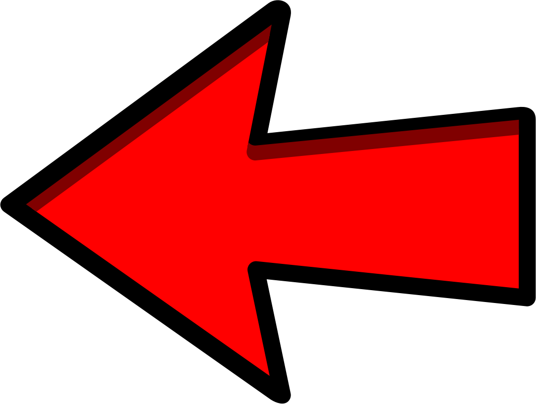 Red Arrow Left Pointing by symbolicM