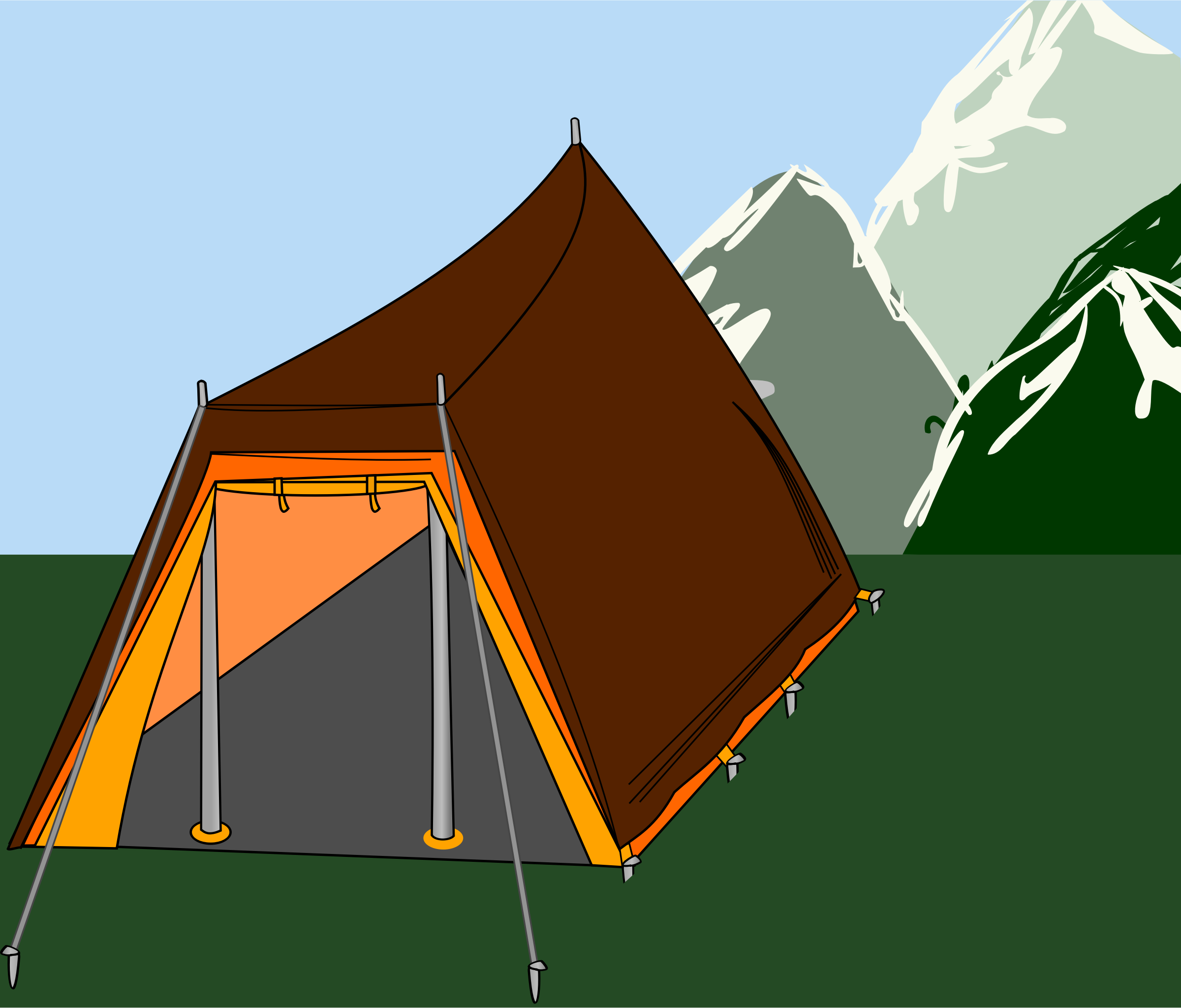 Big tent with three sticks by rdevries