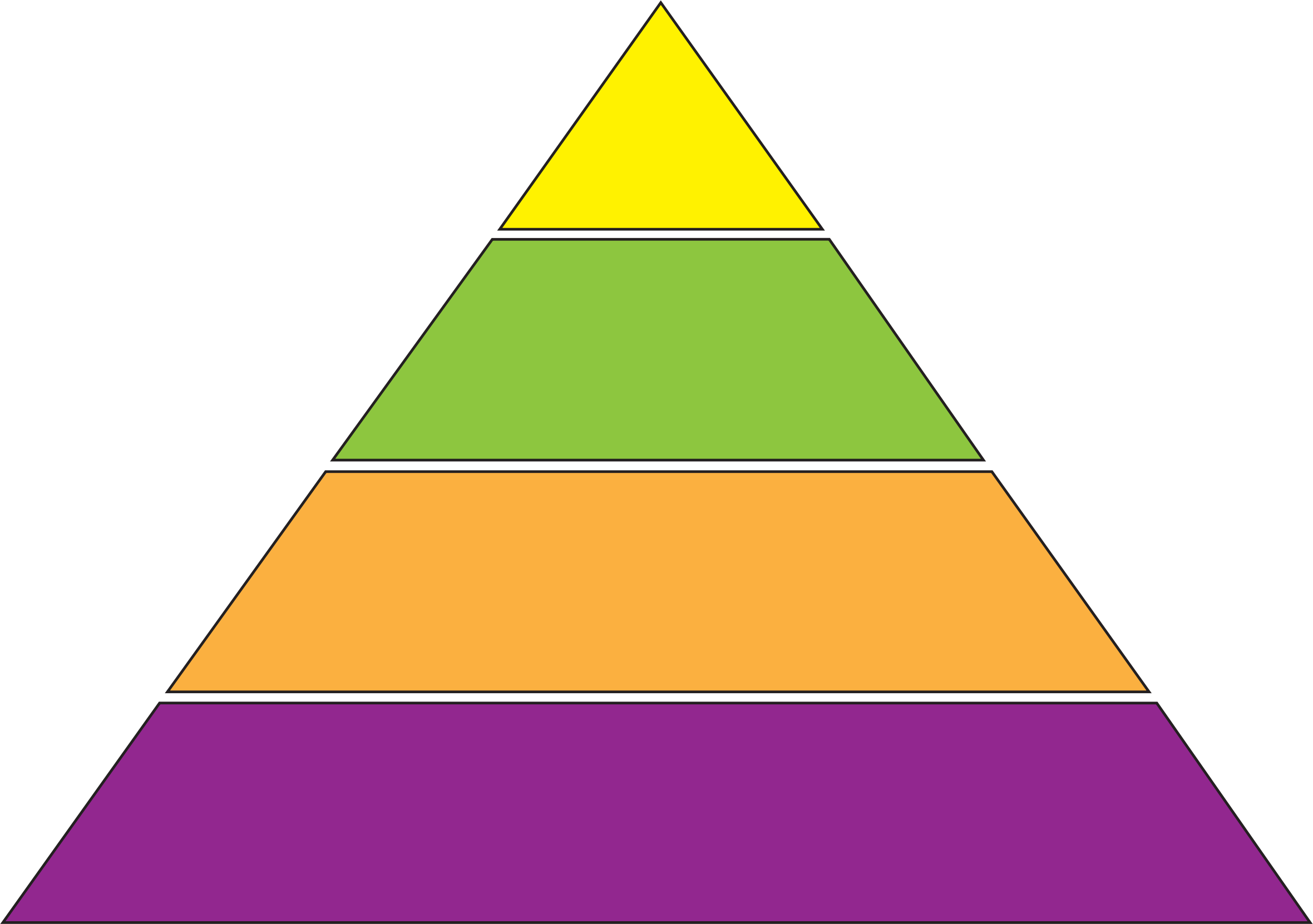 Clipart - Concept Pyramid Diagram