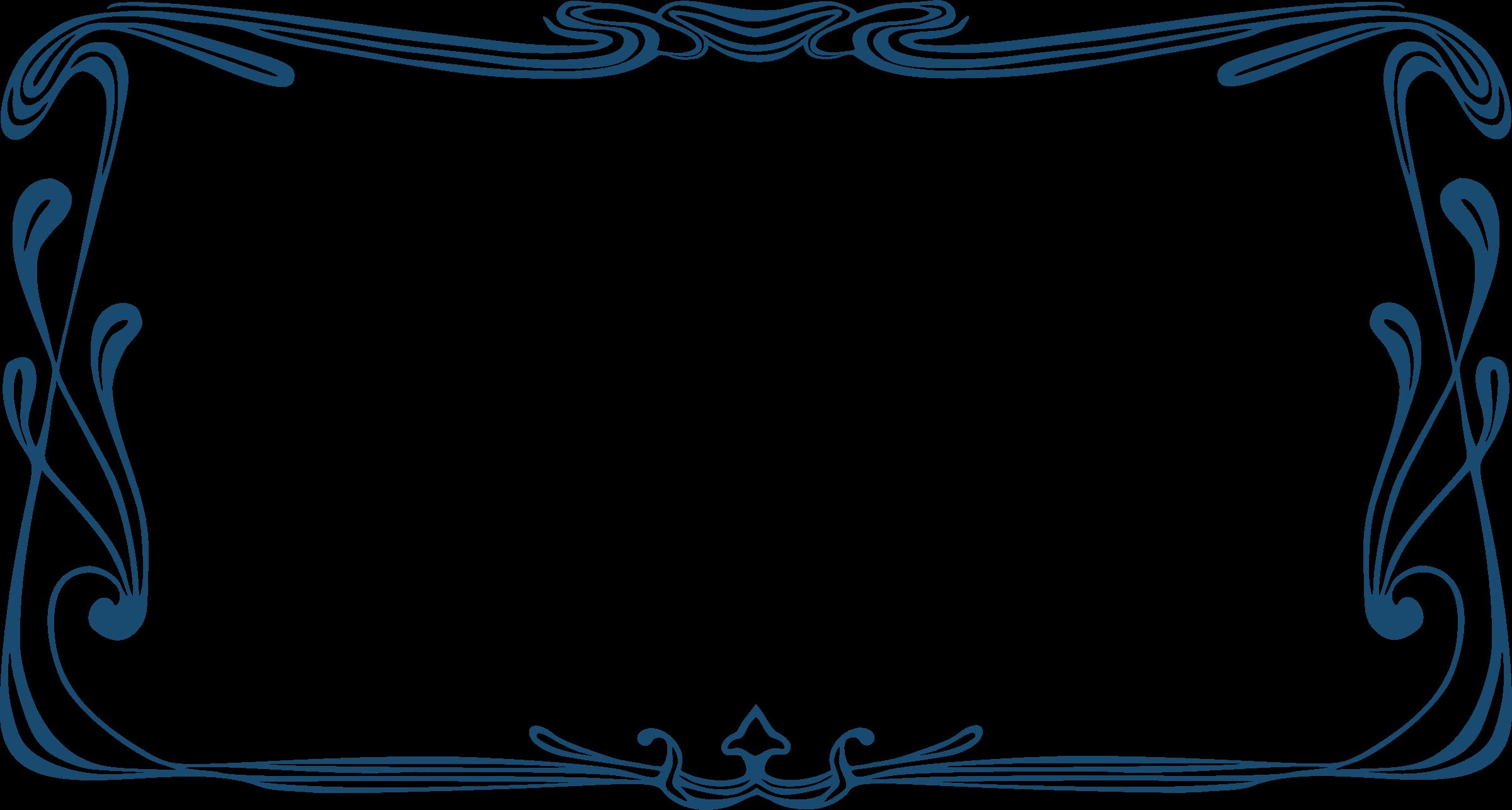 Art Nouveau Frame 2 on Navy Border Clip Art