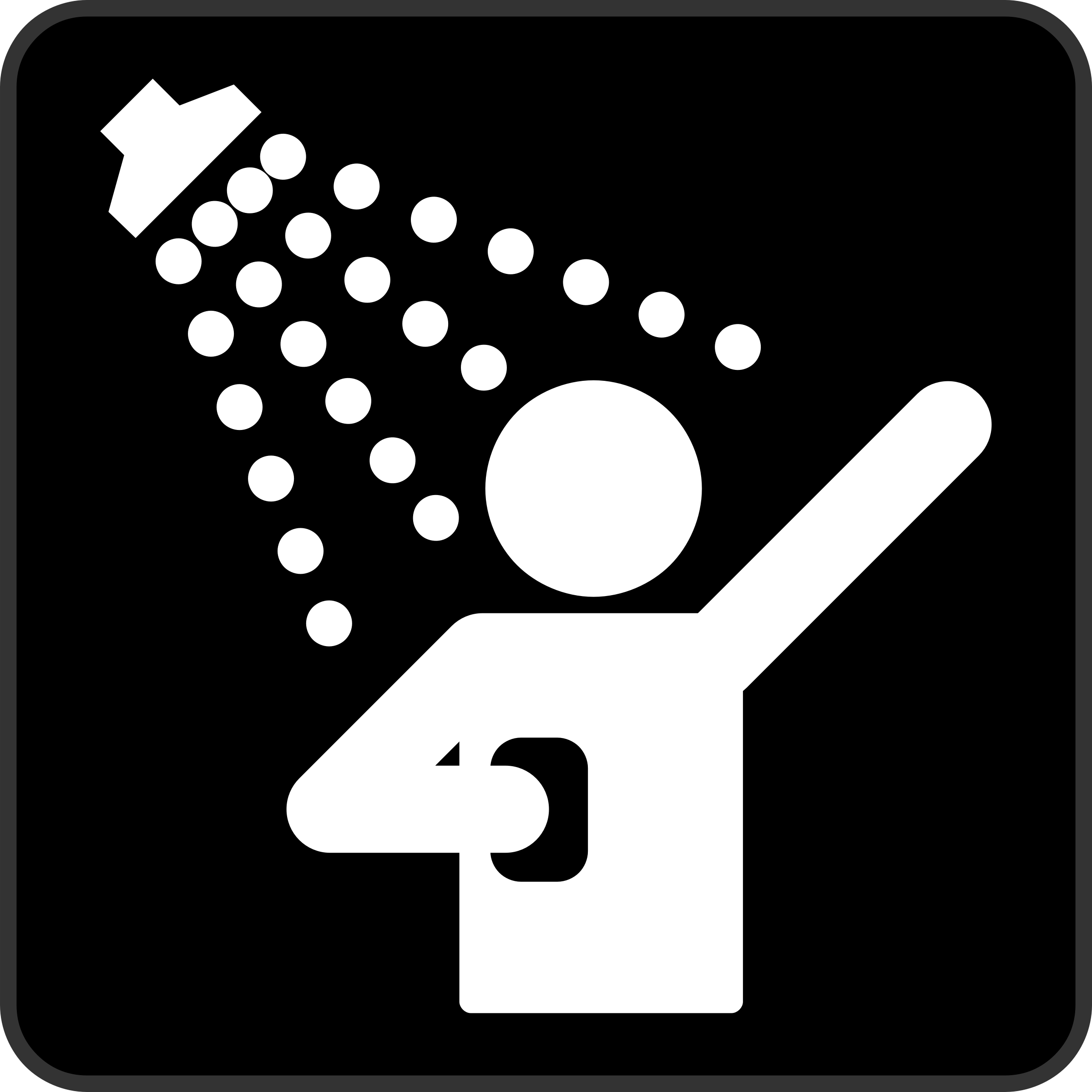 Clipart Shower Black