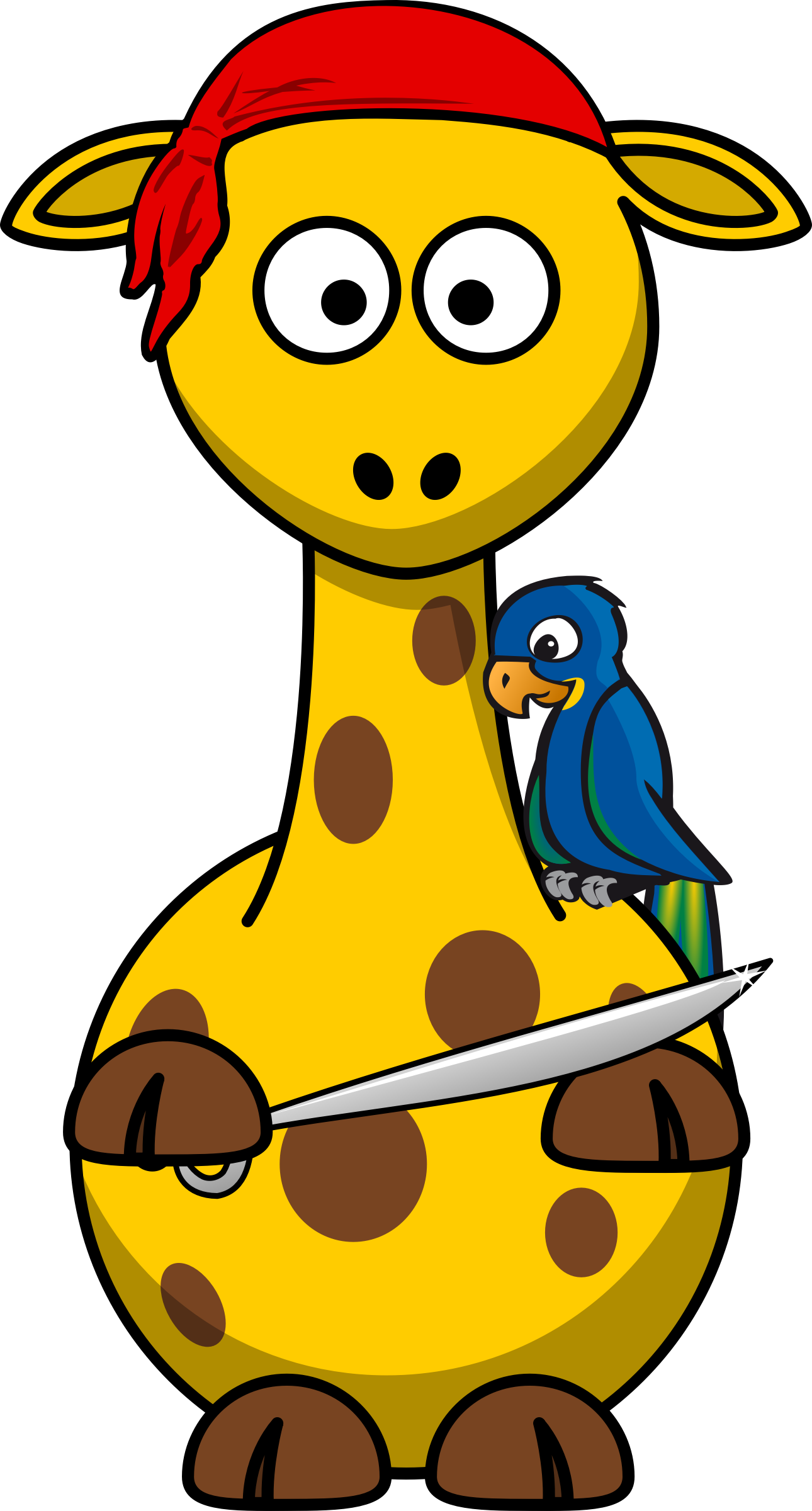 Giraffe Pirate by Bingenberg