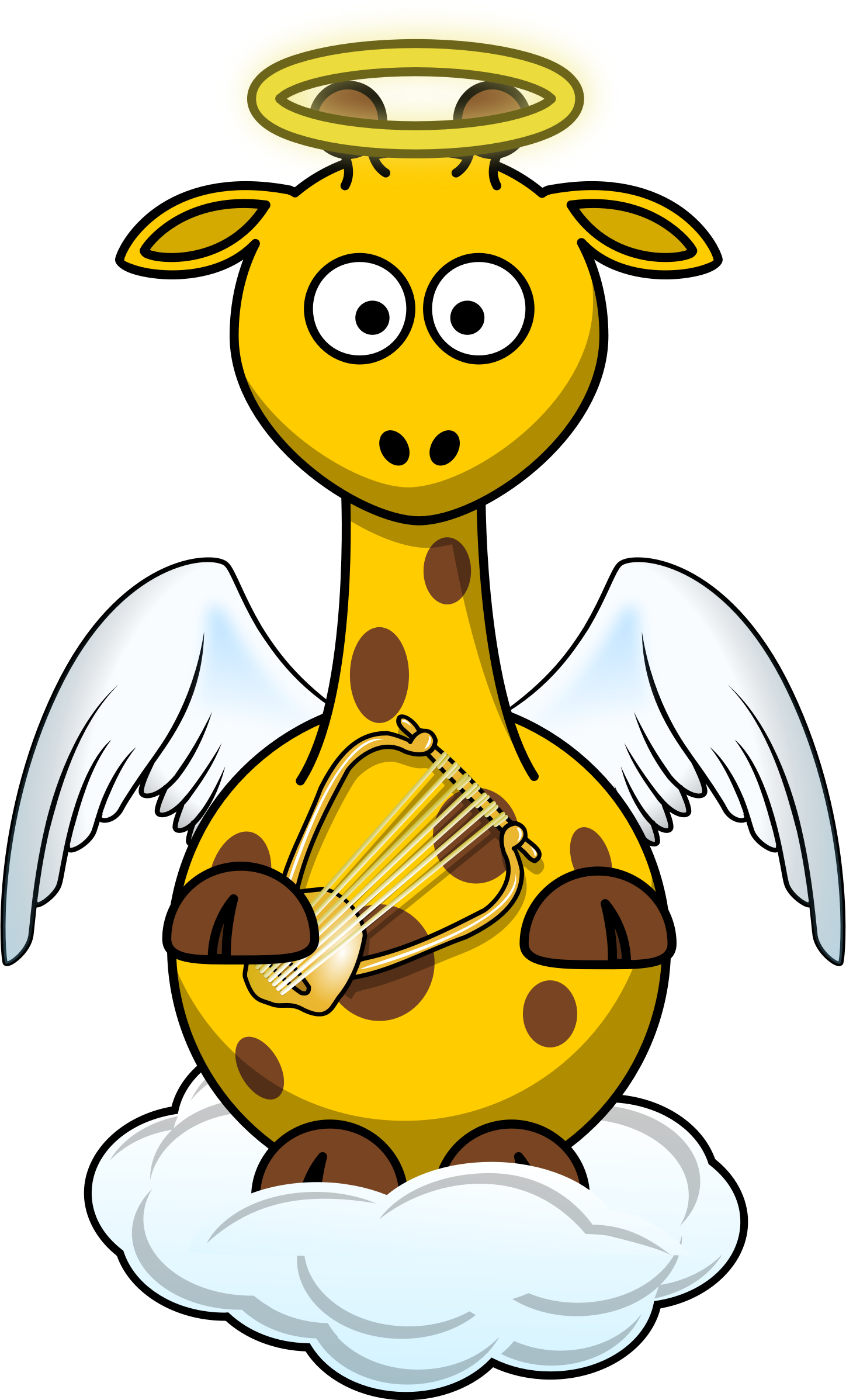Giraffe Angel by Bingenberg