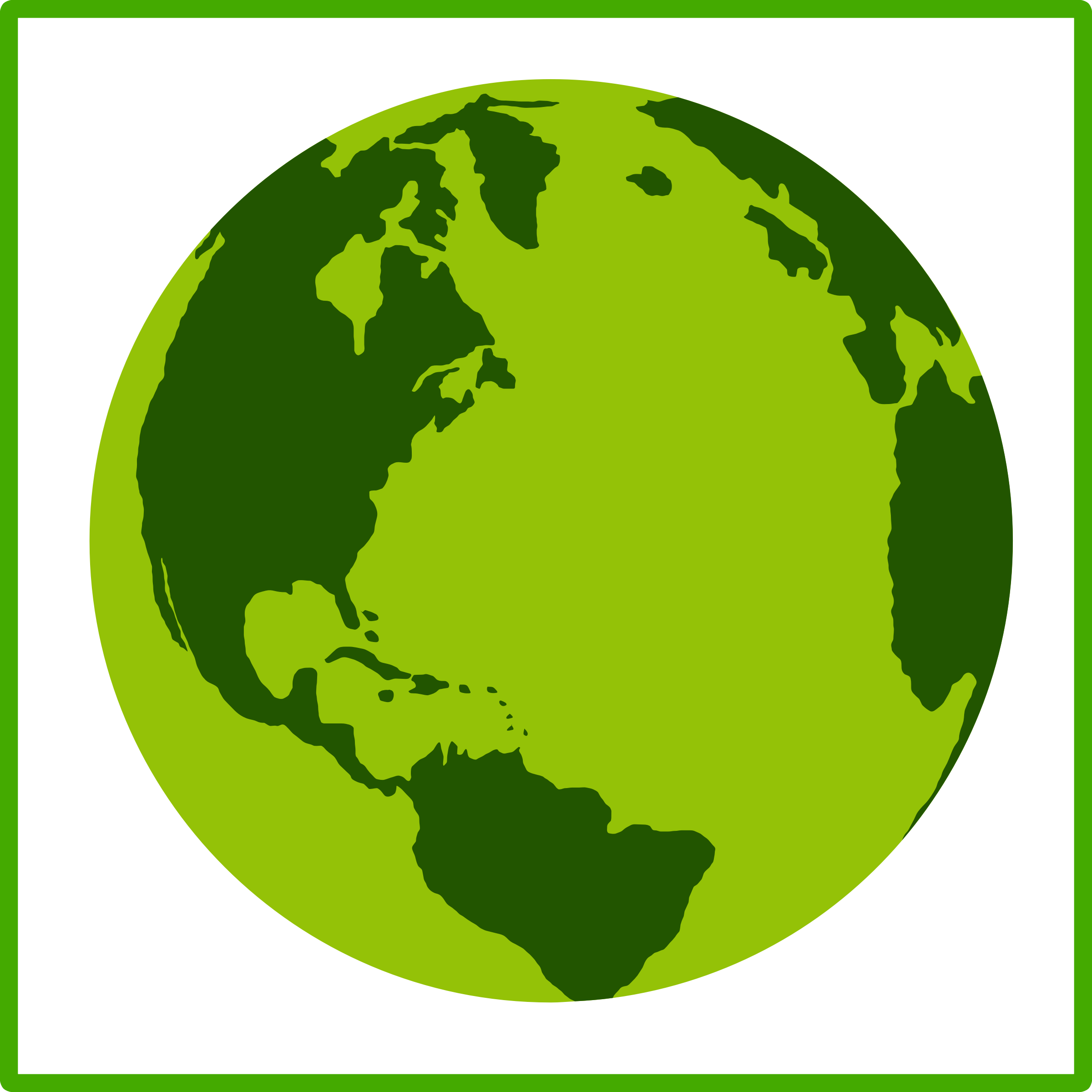 Eco green Earth icon by dominiquechappard