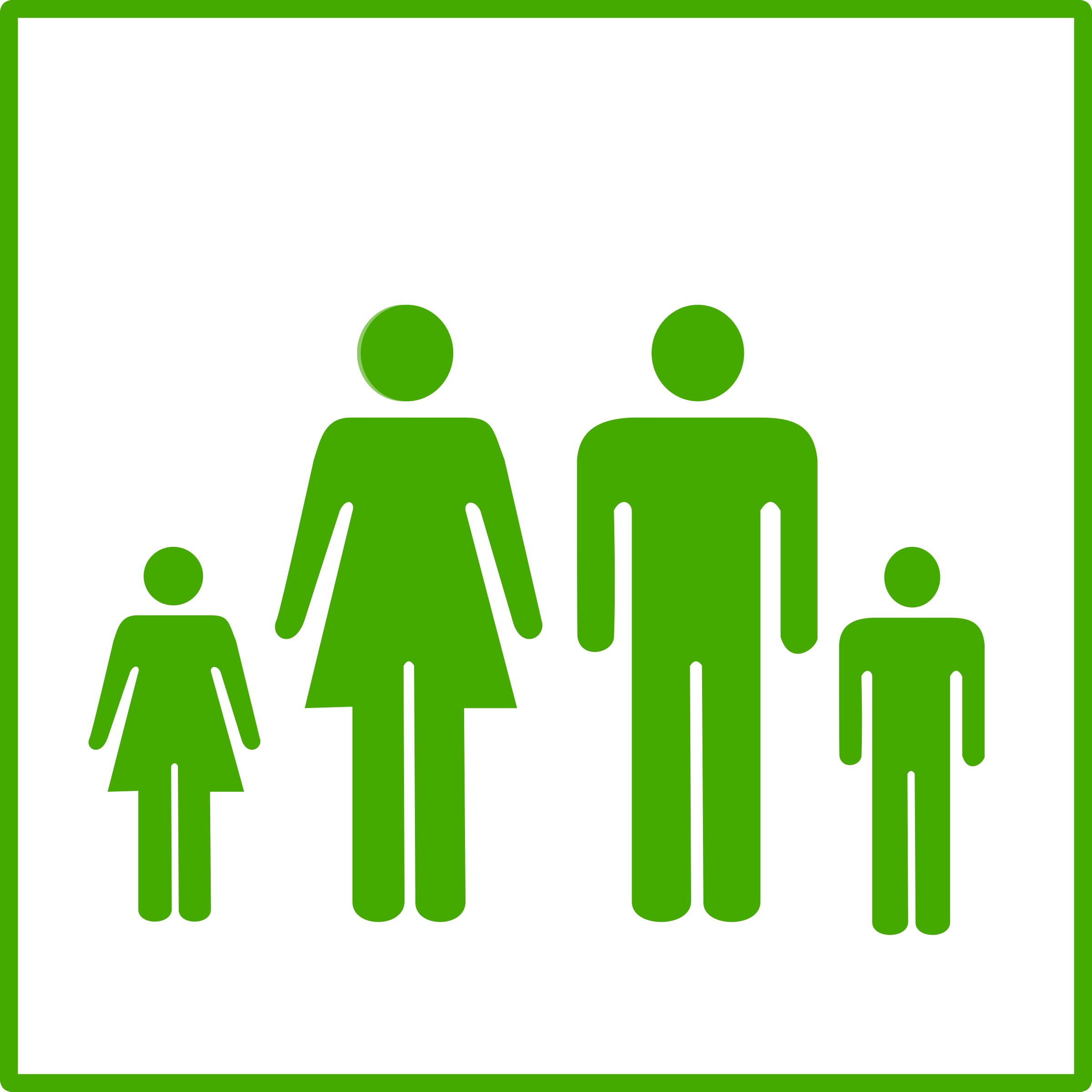 eco green family icon by dominiquechappard