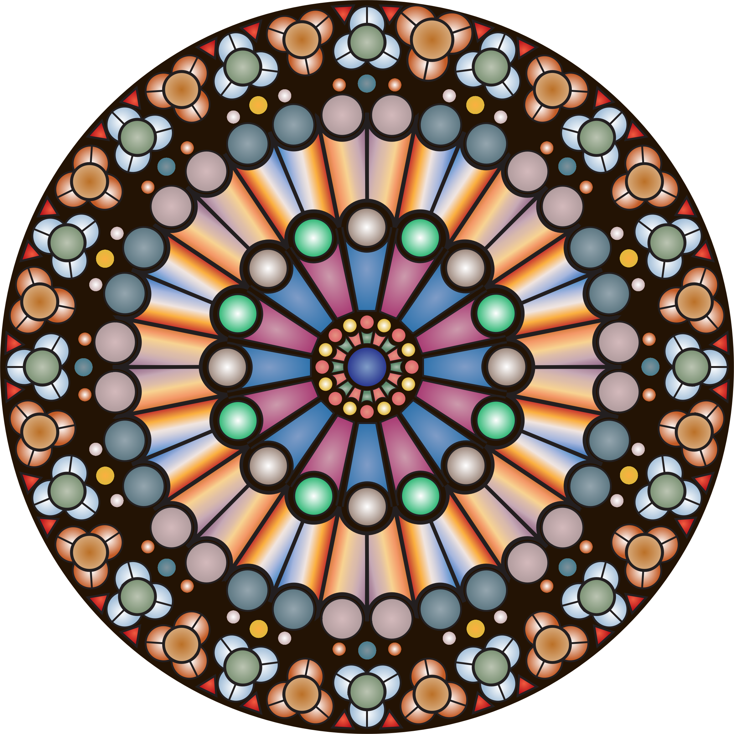 Big image png for Rose window design