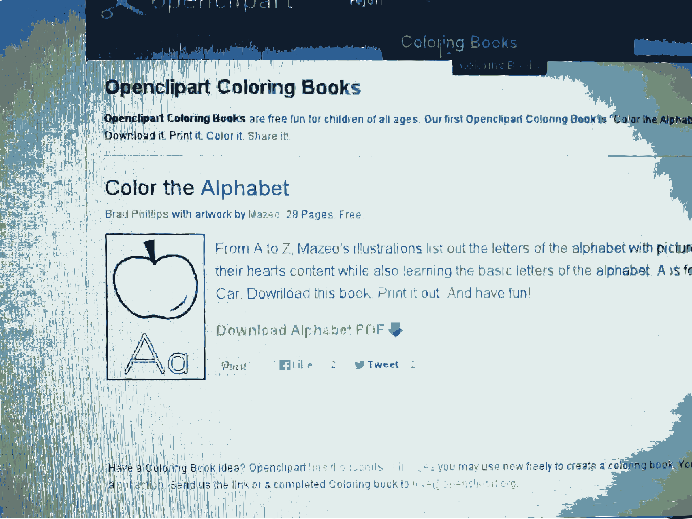 Openclipart Coloring Book is totally free and available now 1 by openclipart