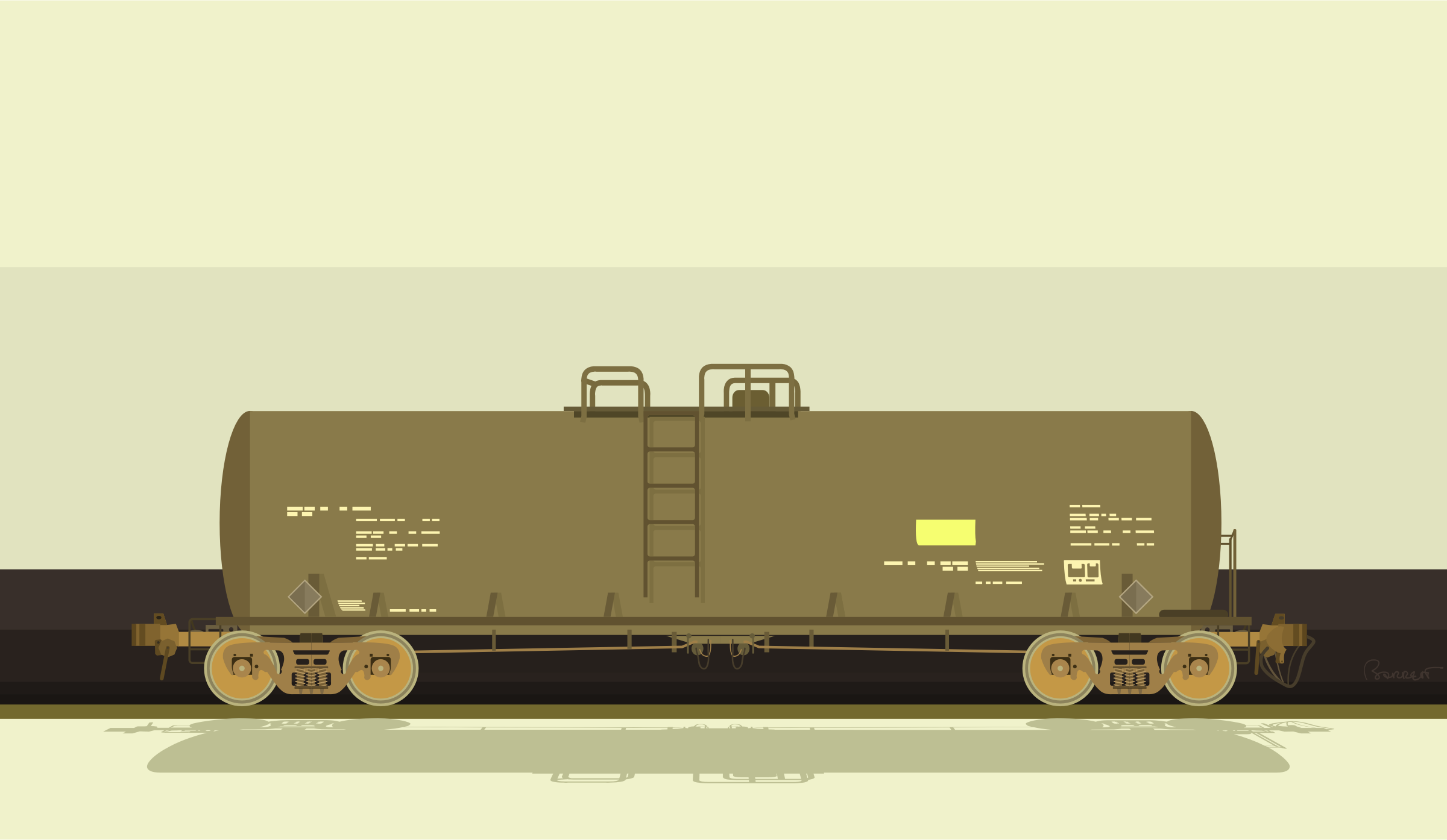 Railroad Tank Car by barrettward
