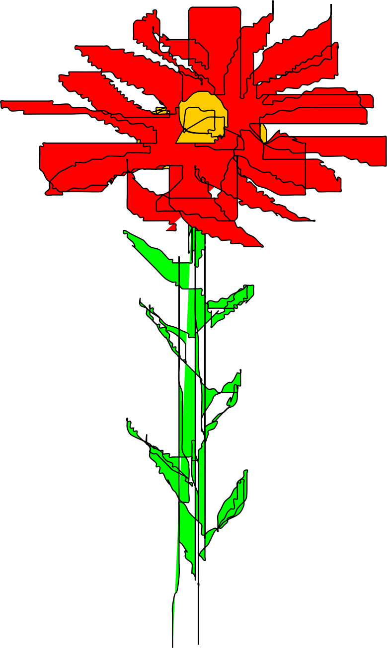 Red flower by gurdonark