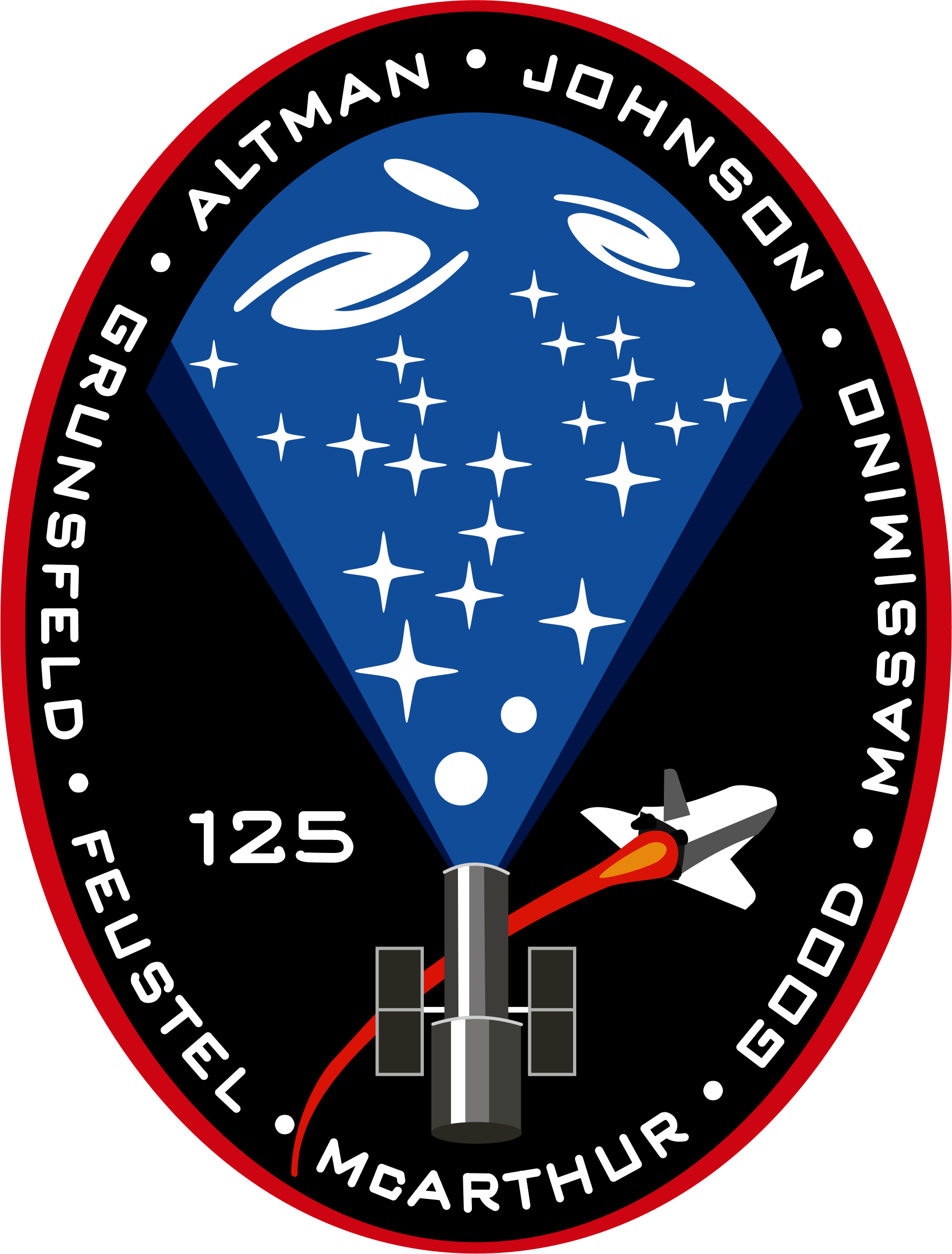 STS-125 Patch by NASA