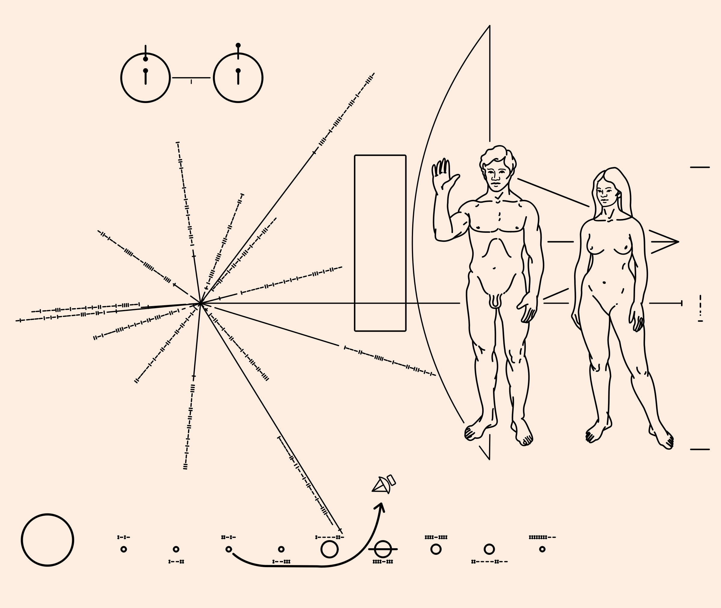 Pioneer Plaque by NASA