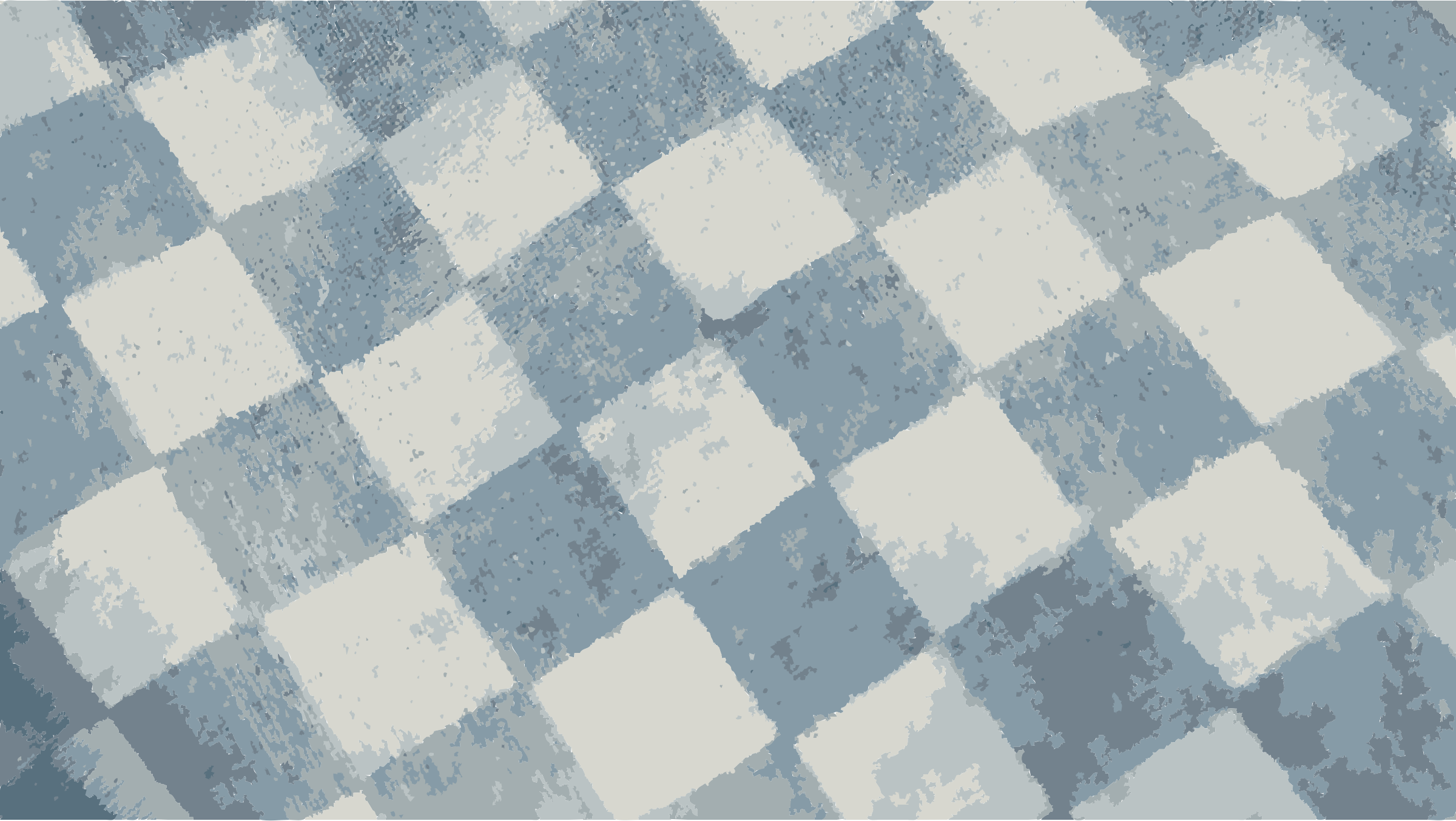 Flat checker pattern in blue and white by peteippel