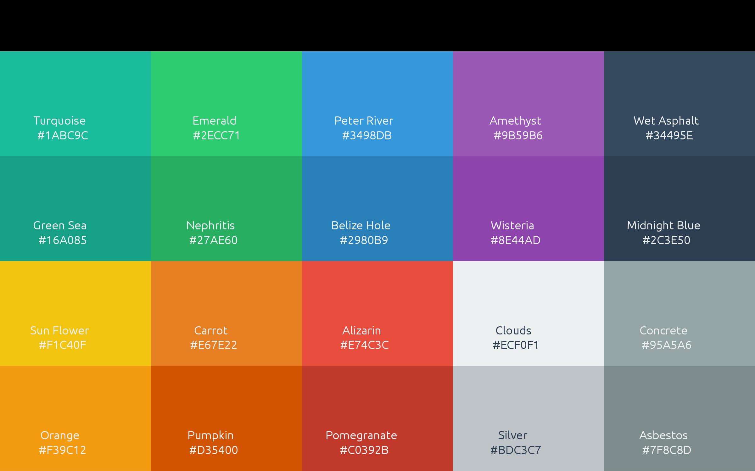Clipart - Flat UI Colors