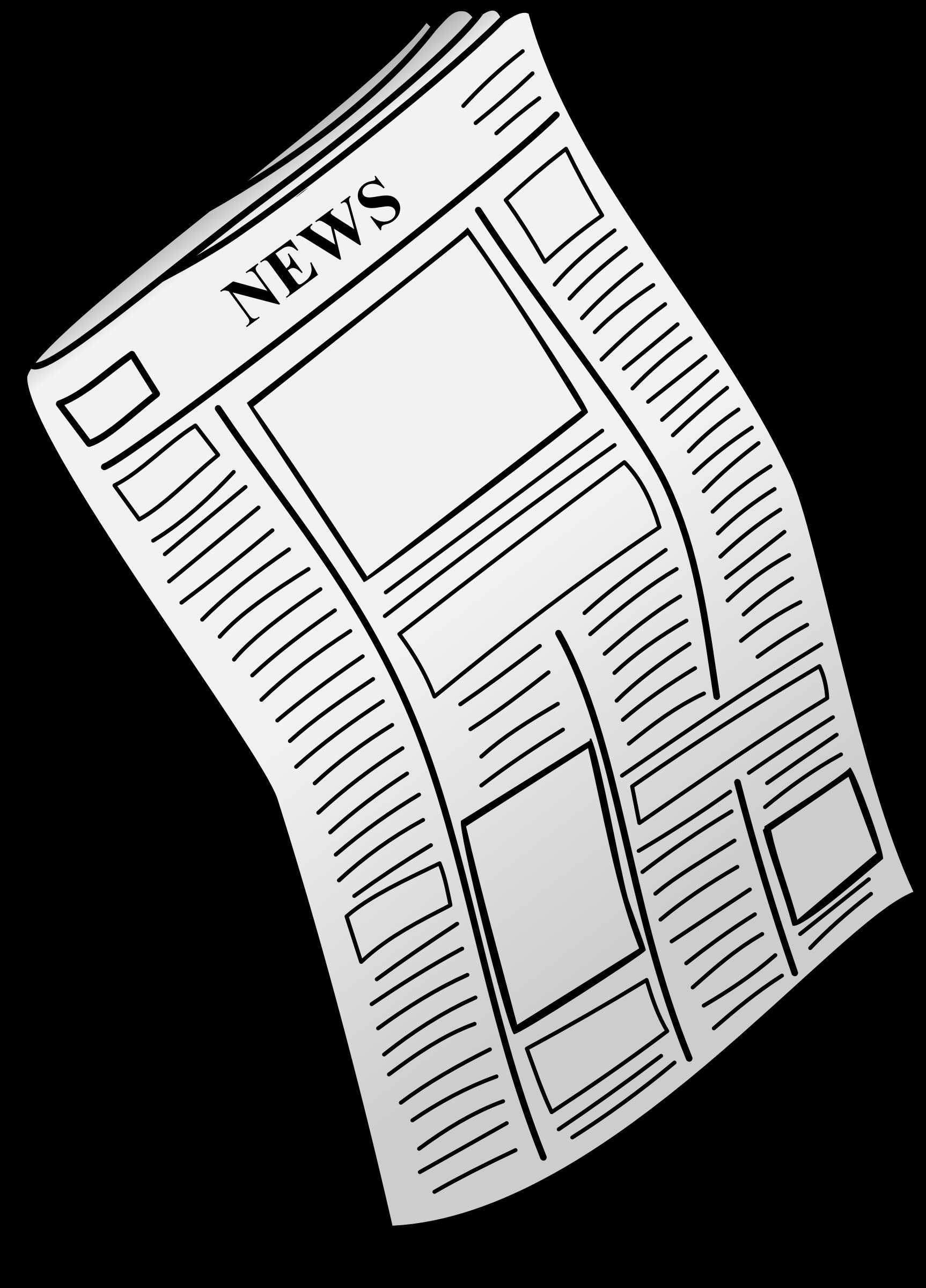 Clipart newspaper - Presse papier open office ...